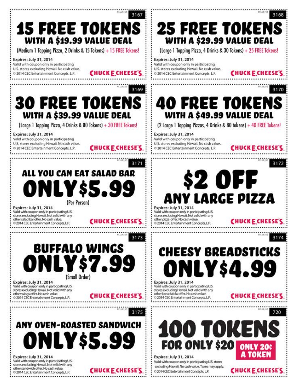 Pinann Anna On Chuck E Cheese Coupons | Pizza Coupons, Free - Free Printable Coupons 2014