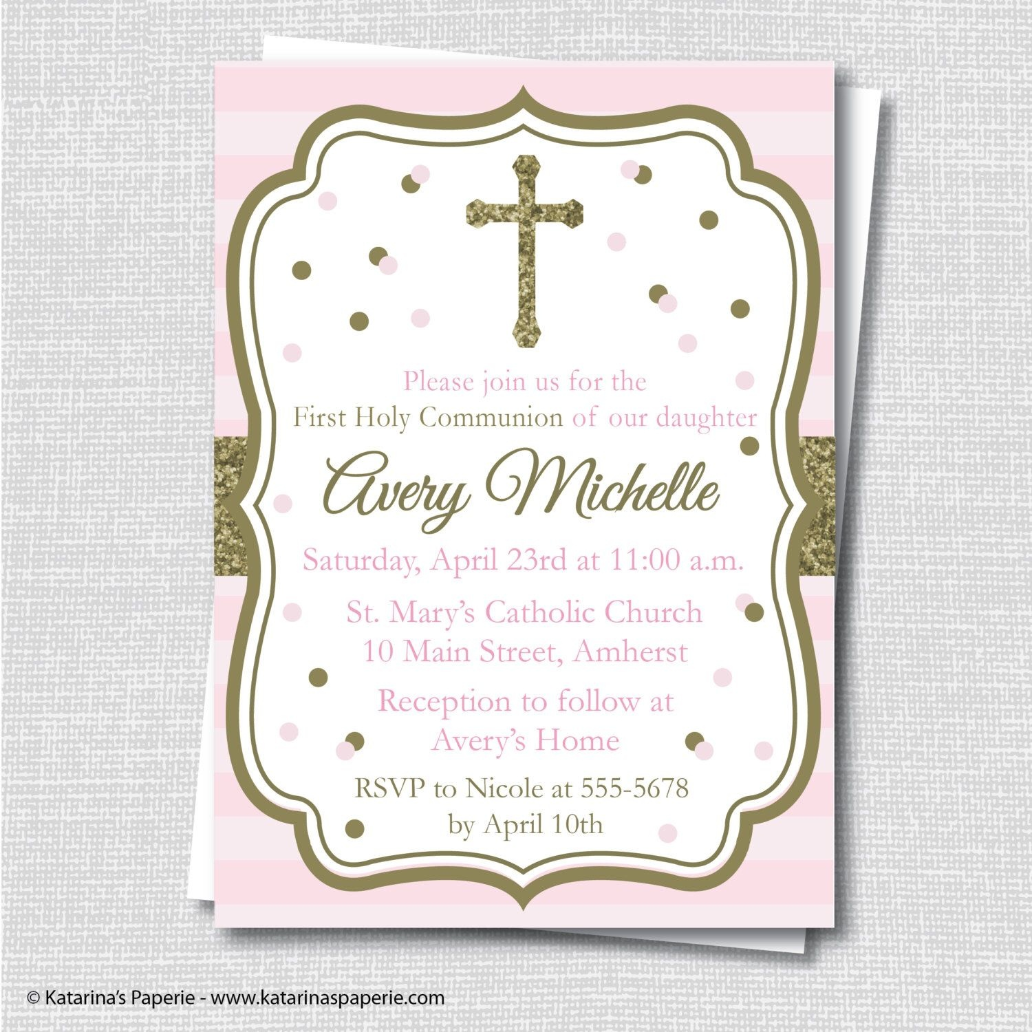 Pinannel On Kiddos | Communion Invitations, First Communion - First Holy Communion Cards Printable Free