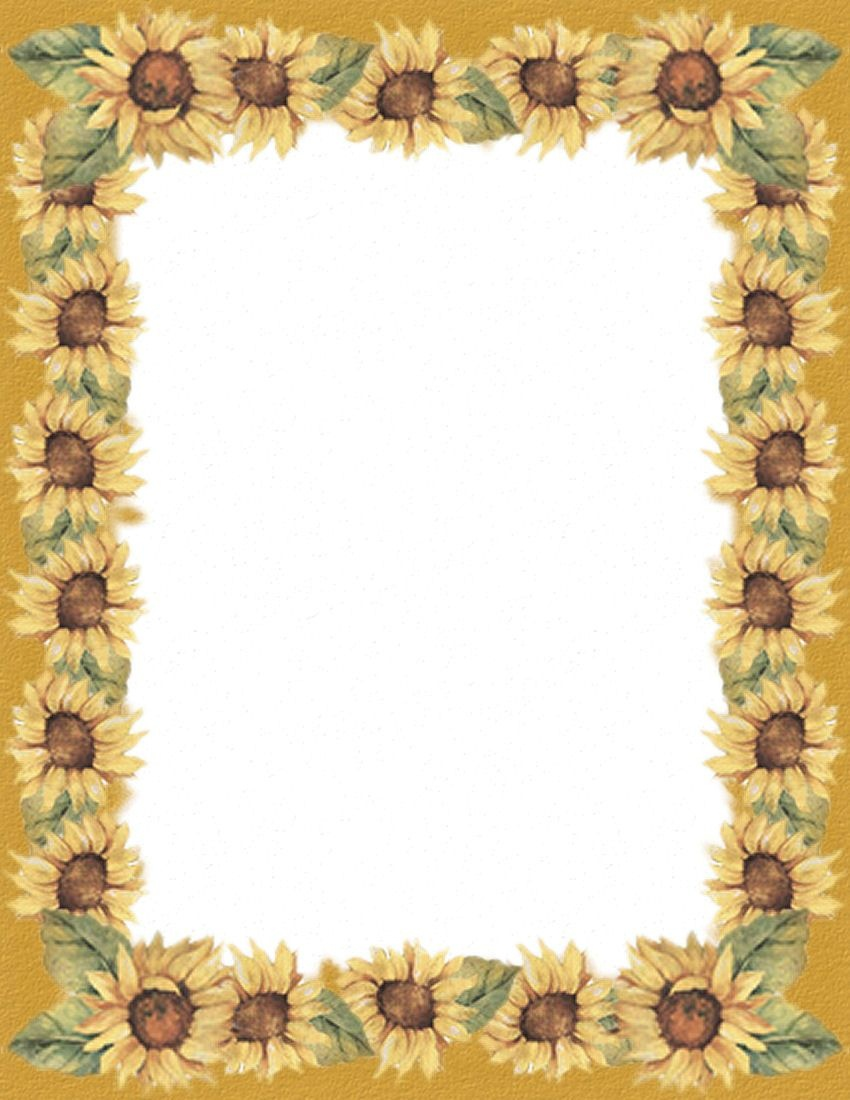 Pinannette Whayn-Haling On Blank Pages | Printer Paper, Paper - Free Printable Sunflower Stationery