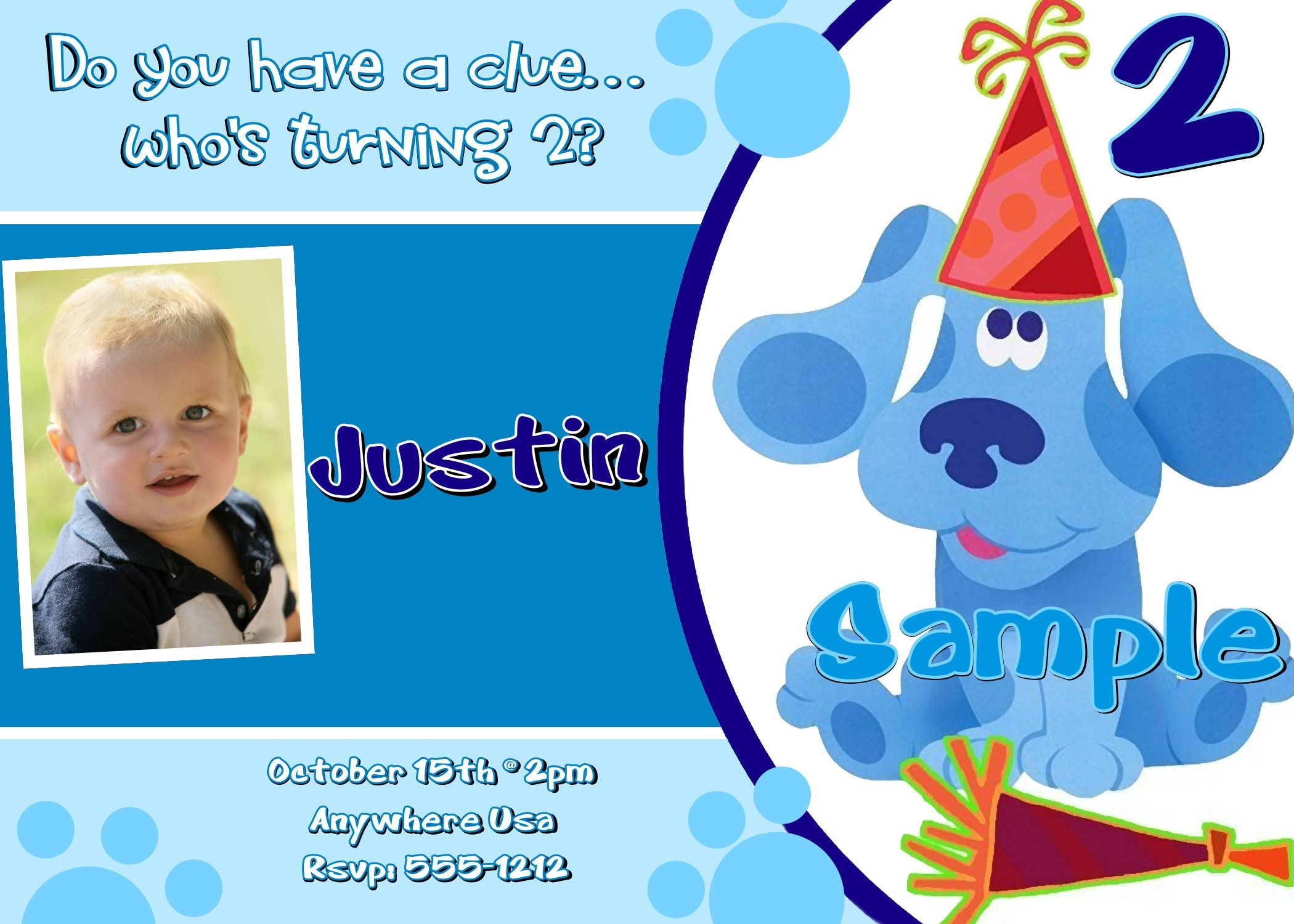 Pinbreana Wall On New | Free Printable Birthday Invitations - Blue's Clues Invitations Free Printable