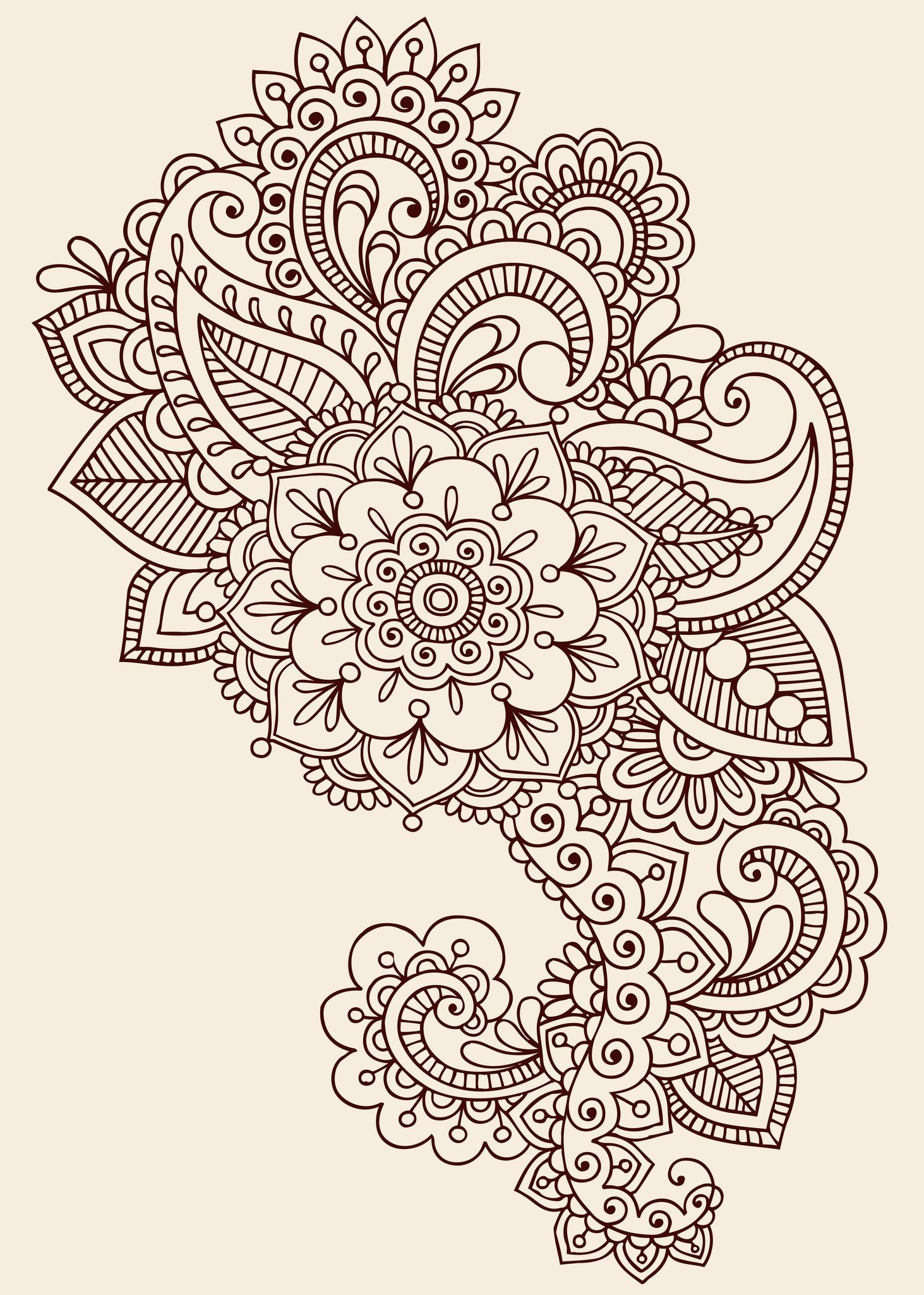 Pinbrittany Sullivan On Tattoos & Piercings * | Mehndi Tattoo - Free Printable Henna Tattoo Designs