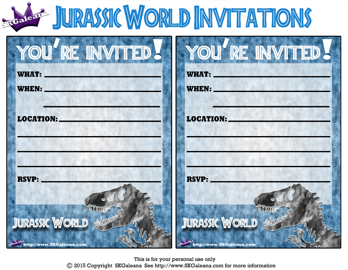 Pincrafty Annabelle On Dinosaurs Printables In 2019 | Jurassic - Free Printable Jurassic Park Invitations