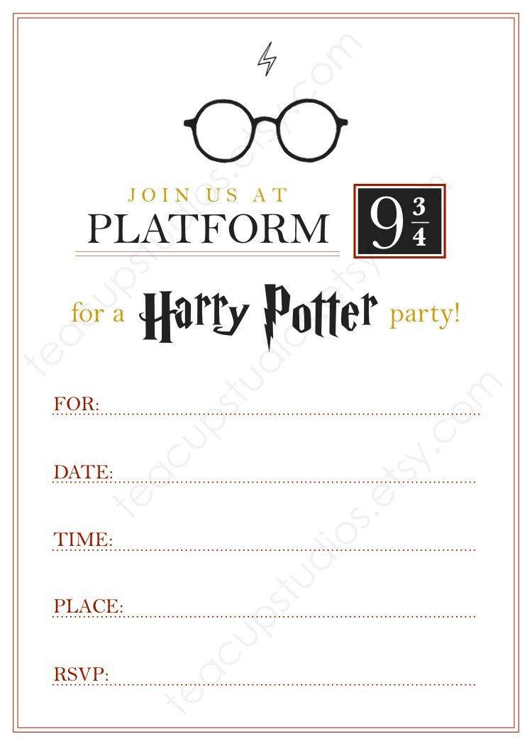 Pindrevio On Free Printable Birthday Invitation In 2019 | Harry - Harry Potter Birthday Invitations Free Printable