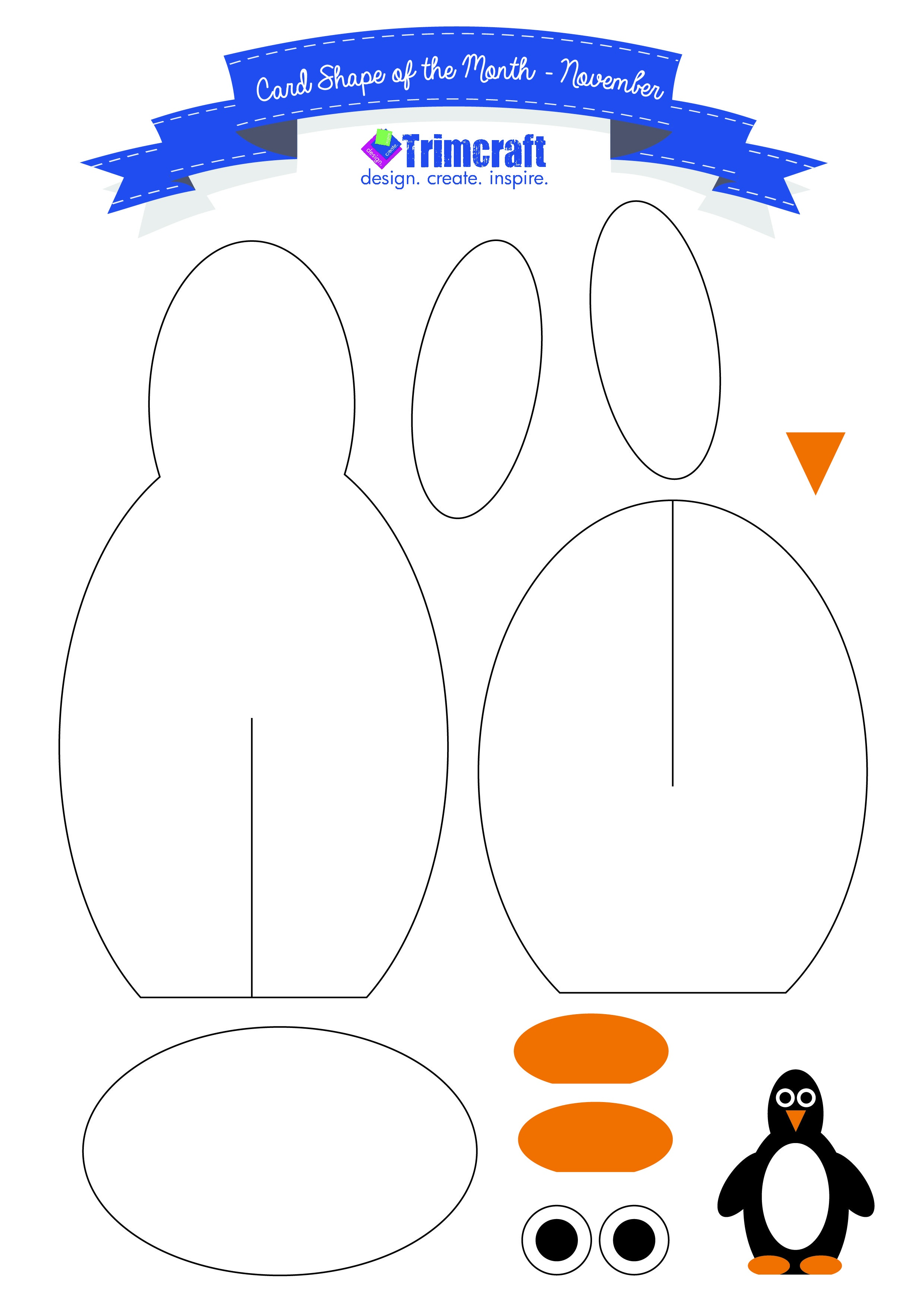 Pinguillermo Gutierrez On School Crafts | Templates Printable - Free Printable Penguin Template