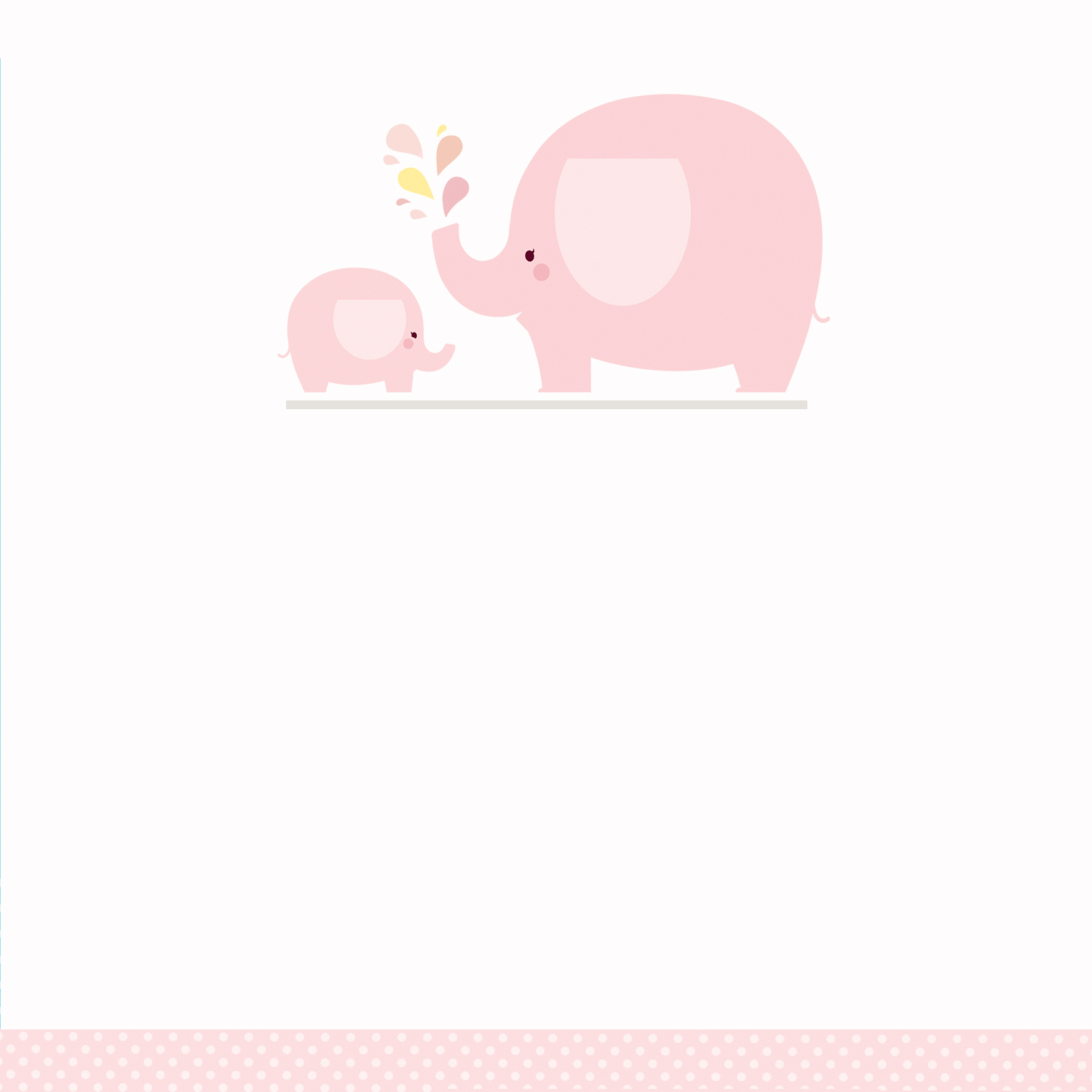 Pink Baby Elephant - Free Printable Baby Shower Invitation Template - Free Printable Blank Baby Shower Invitations