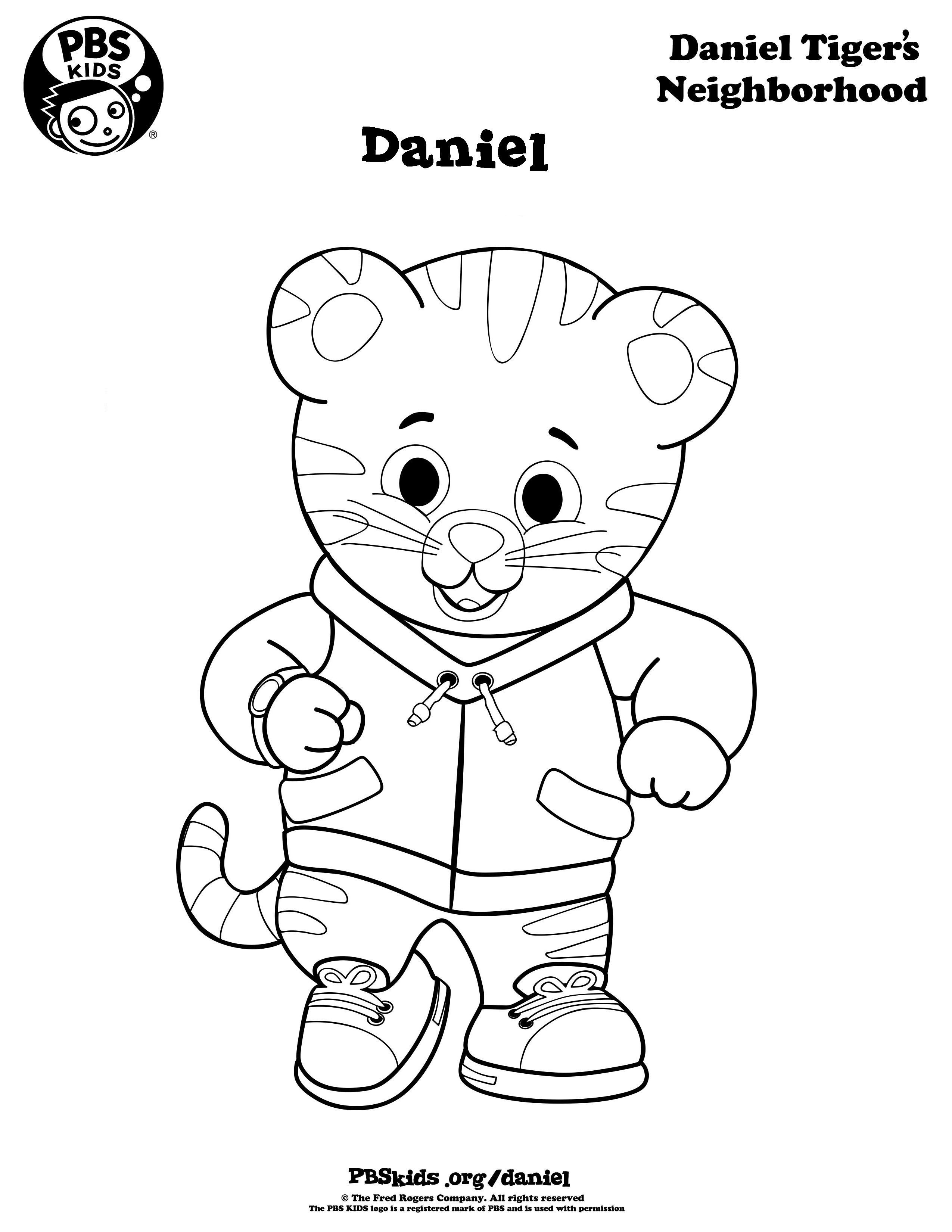 Pinkristen Miller On Noah's 1St Birthday   Daniel Tiger Party - Free Printable Daniel Tiger Coloring Pages