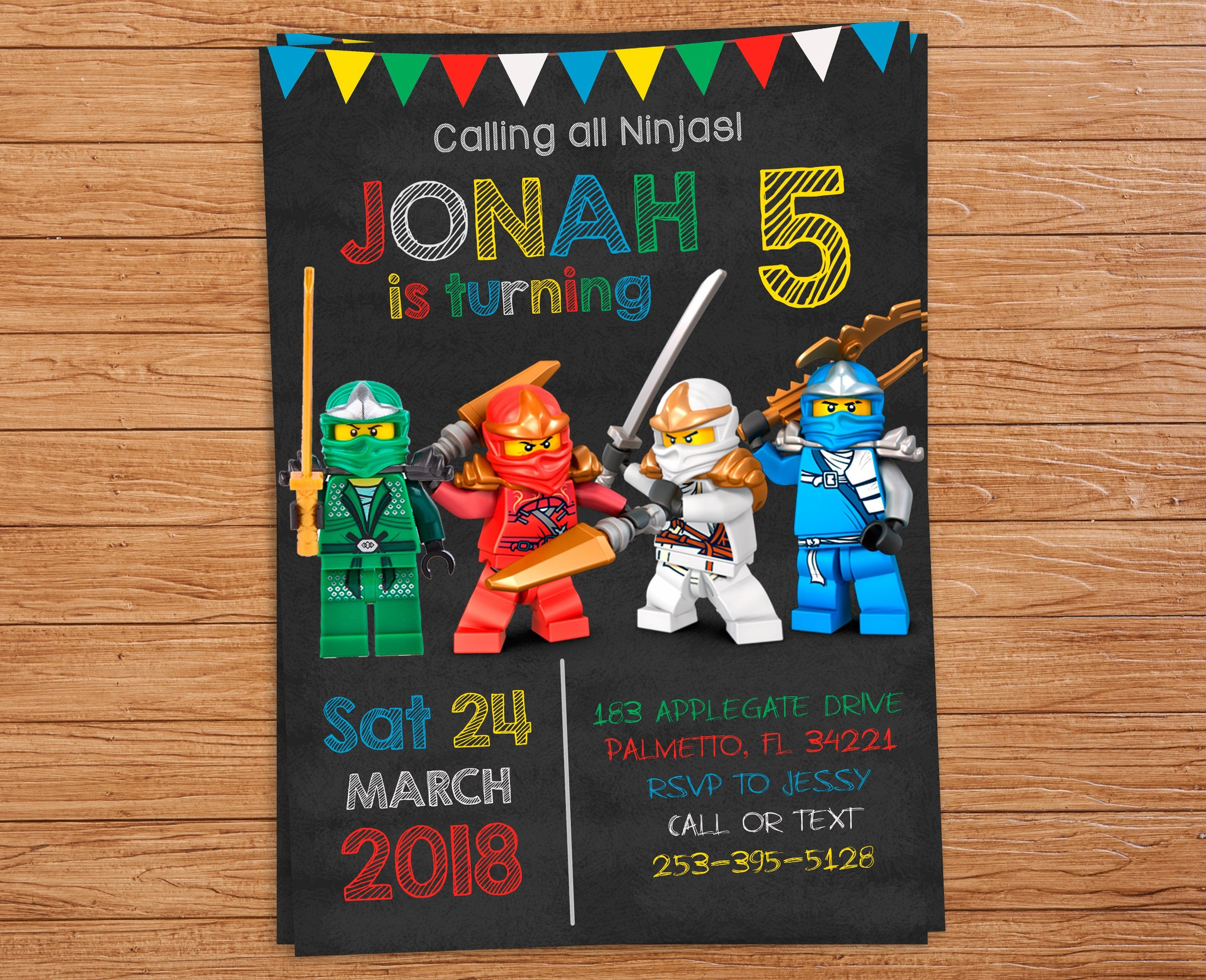 Pinlindsey Hicks On Wesley's 6Th Birthday | Ninjago Party, Ninja - Lego Ninjago Party Invitations Printable Free