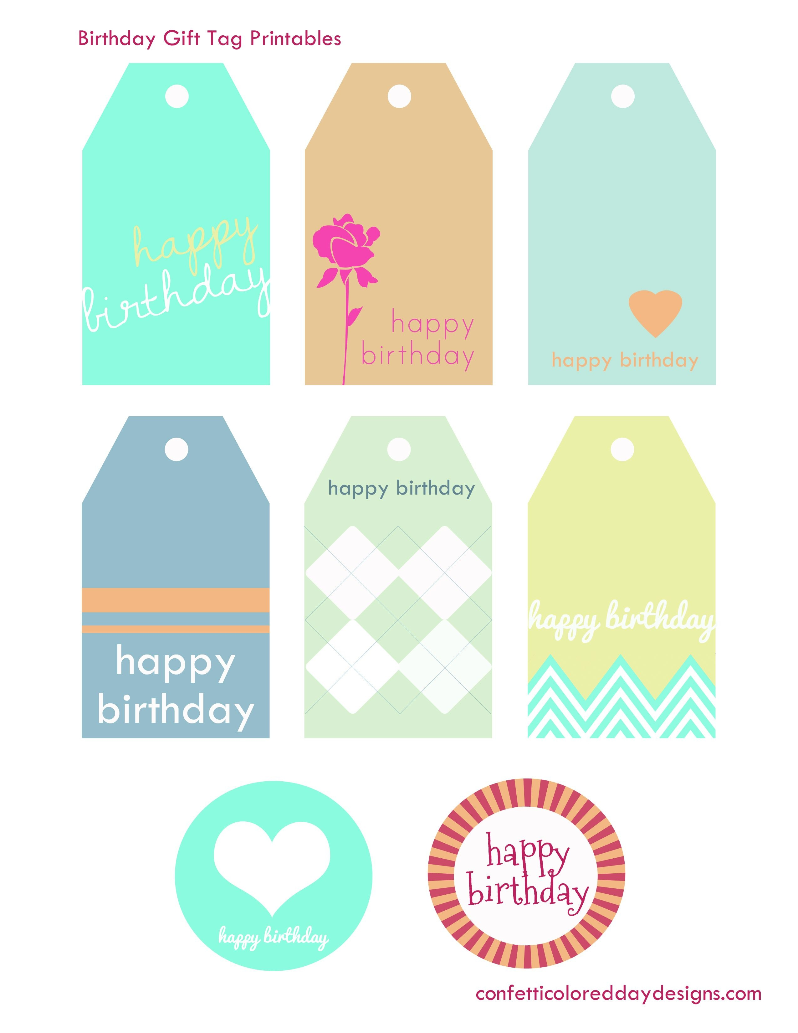 Pinmaheen Khan On Cards, Gifts & Gift Wraps   Birthday Tags - Free Printable Birthday Tags