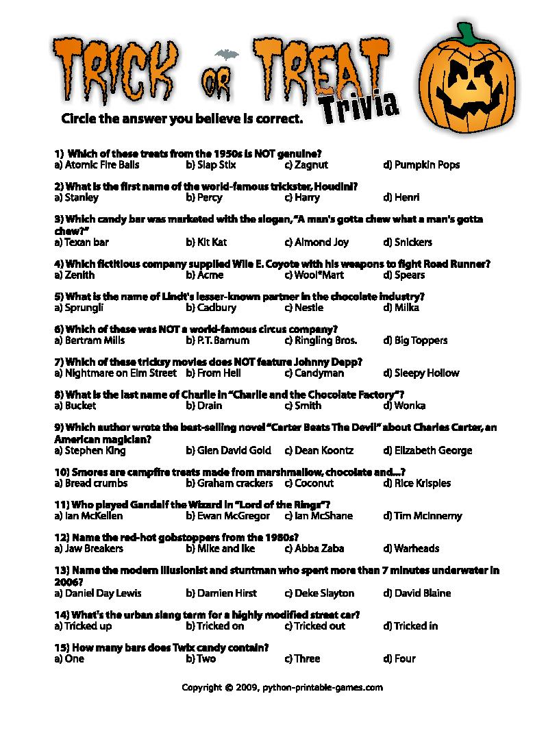 Pinmary Anne On Christmas Fun   Halloween Trivia Questions - Halloween Trivia Questions And Answers Free Printable