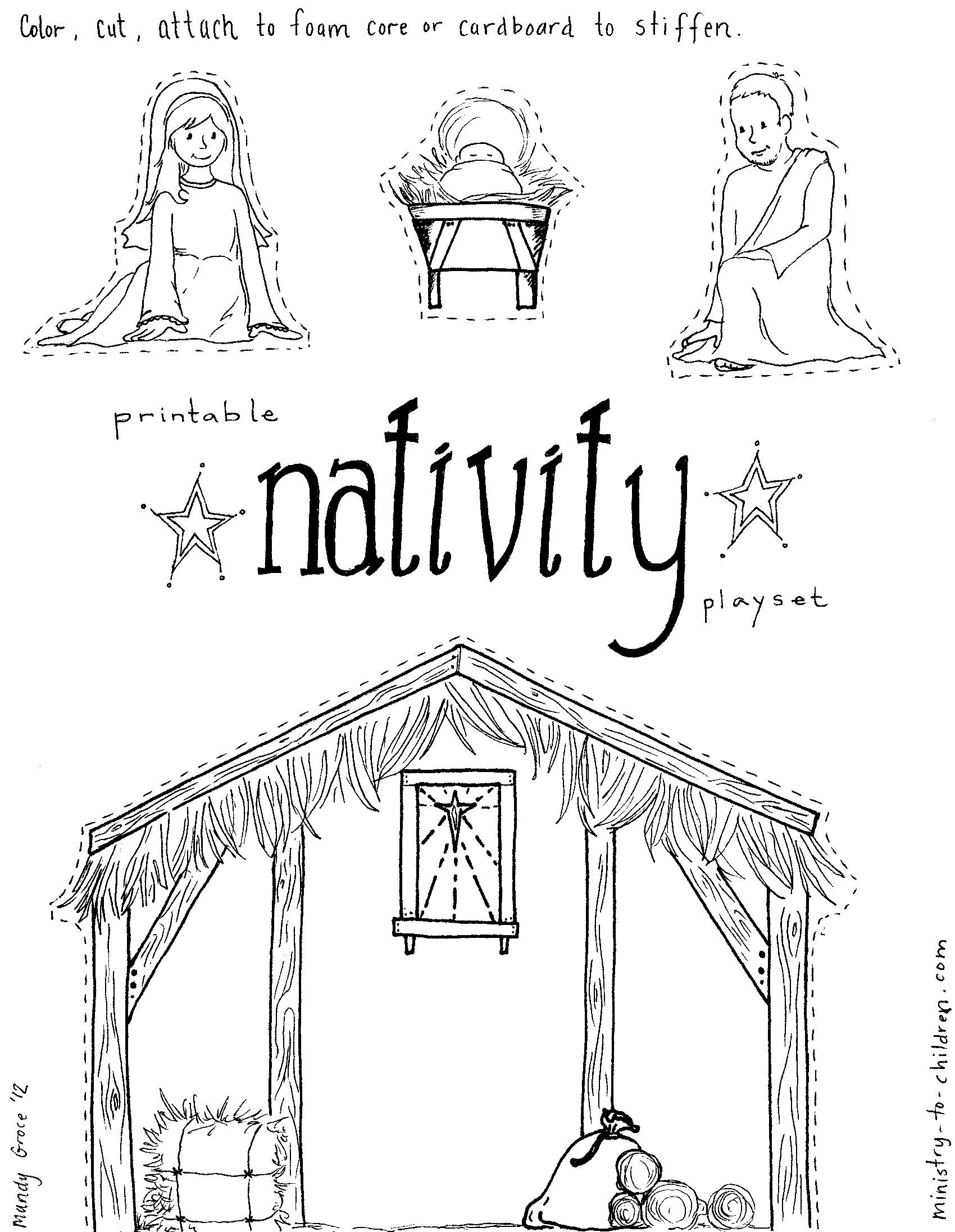 Pinmckenna Peterson On Primary   Nativity Coloring Pages - Free Printable Nativity Story Coloring Pages