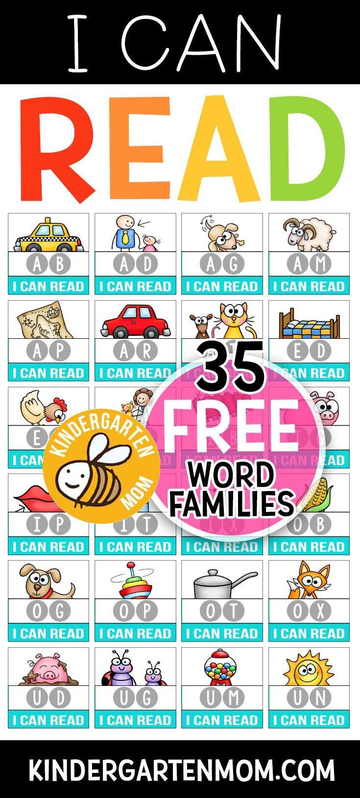 Pinthe Crafty Classroom On Homeschool Ninjas | Kindergarten - Free Printable Word Family Mini Books