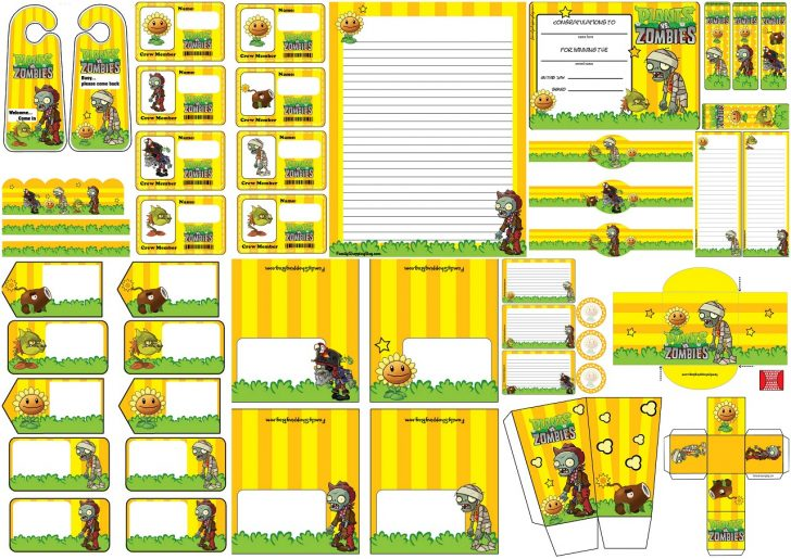 Plants Vs Zombies Free Printable Invitations
