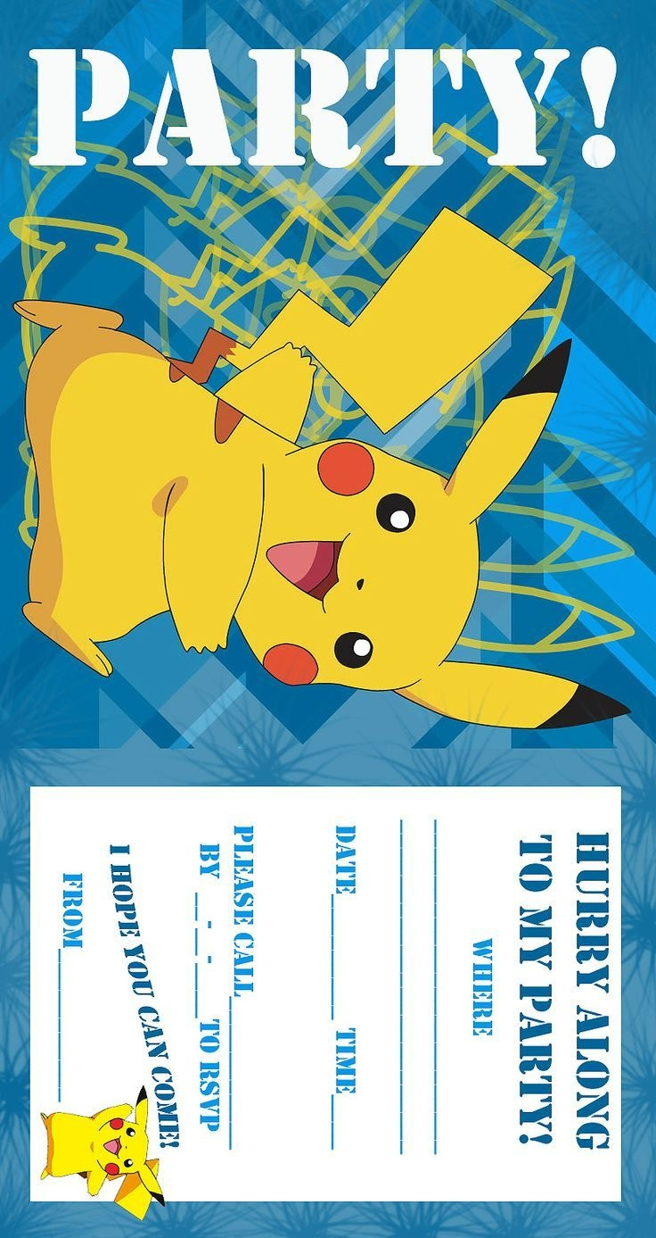 Pokemon Birthday Invitations Free Printable | Birthday Ideas In 2019 - Free Printable Pokemon Birthday Invitations