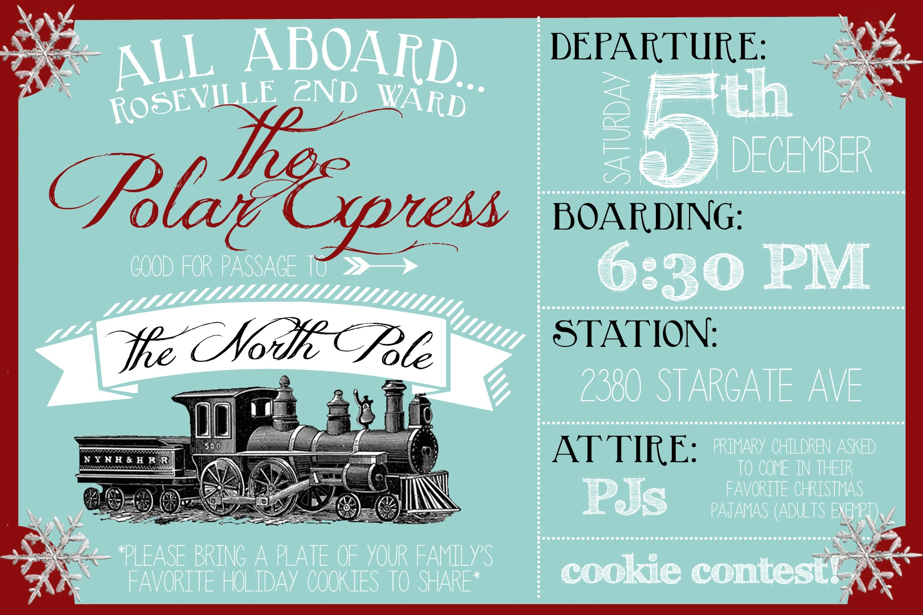 Polar Express Party Invitation - Party Like A Cherry - Free Polar Express Printable Tickets