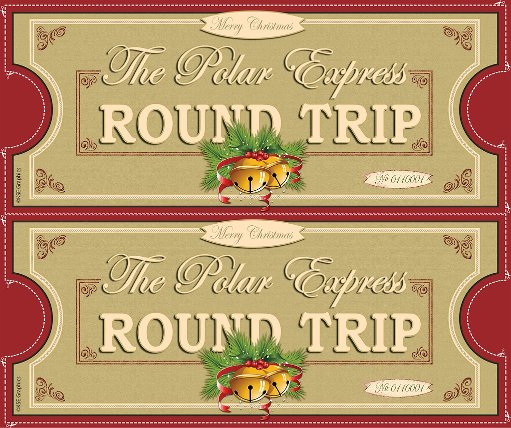 Polar Express Tickets Front 2Up Red | Free Printable Polar E… | Flickr - Free Polar Express Printable Tickets