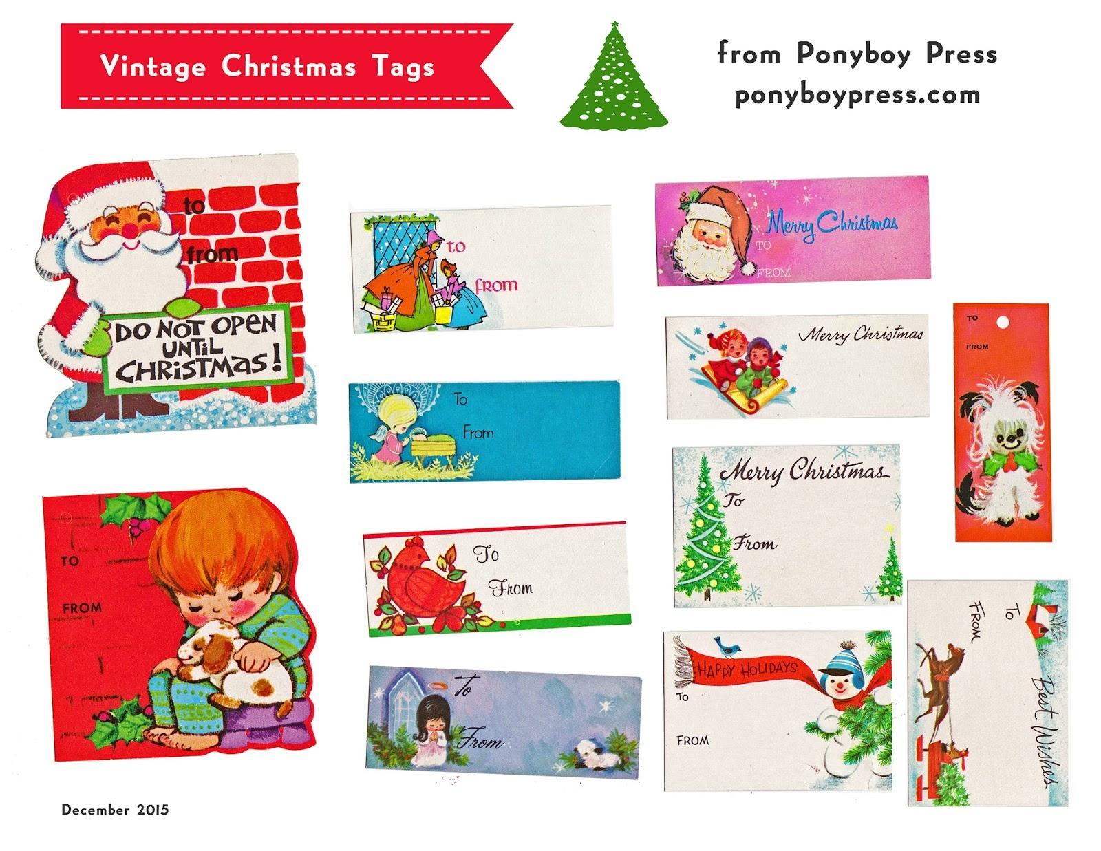 Ponyboy Press - Zine Maker, Design Lover, Dedicated Homebody - Free Printable Customizable Gift Tags