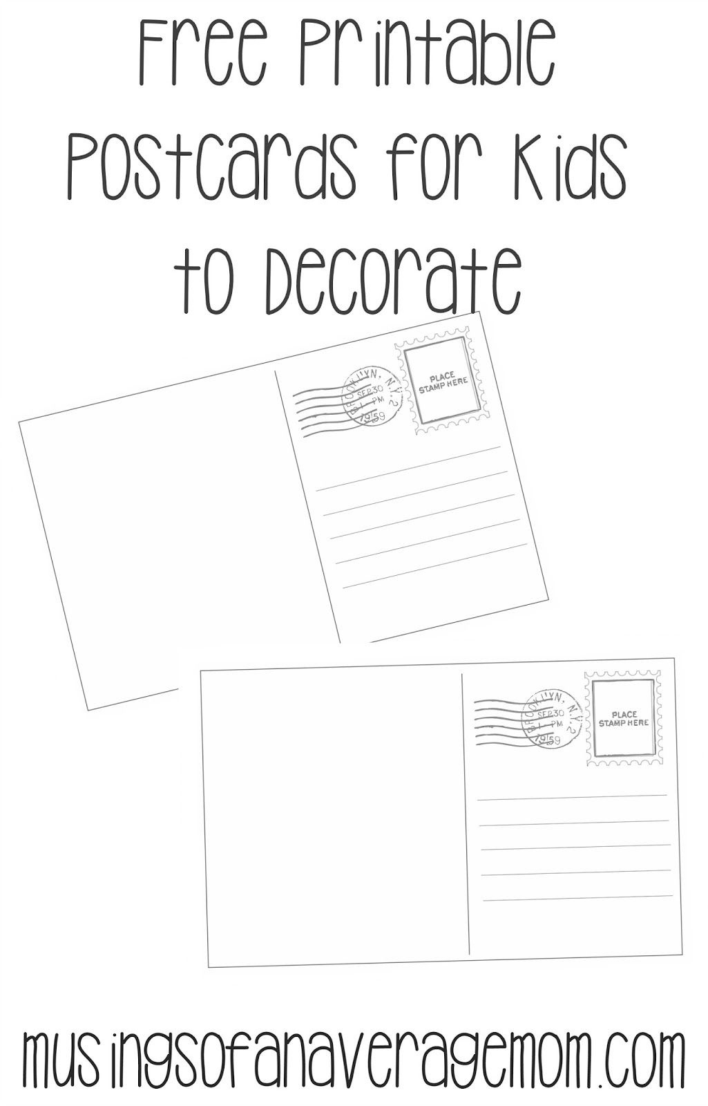 Postcard Templates | Printable Worksheets | Printable Postcards - Free Printable Postcards