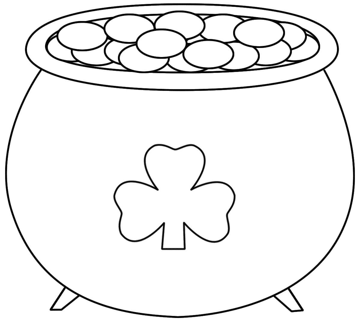 Pot+Of+Gold+Printable   Pot Of Gold - Coloring Pages   Saint - Free Printable Pot Of Gold Coloring Pages