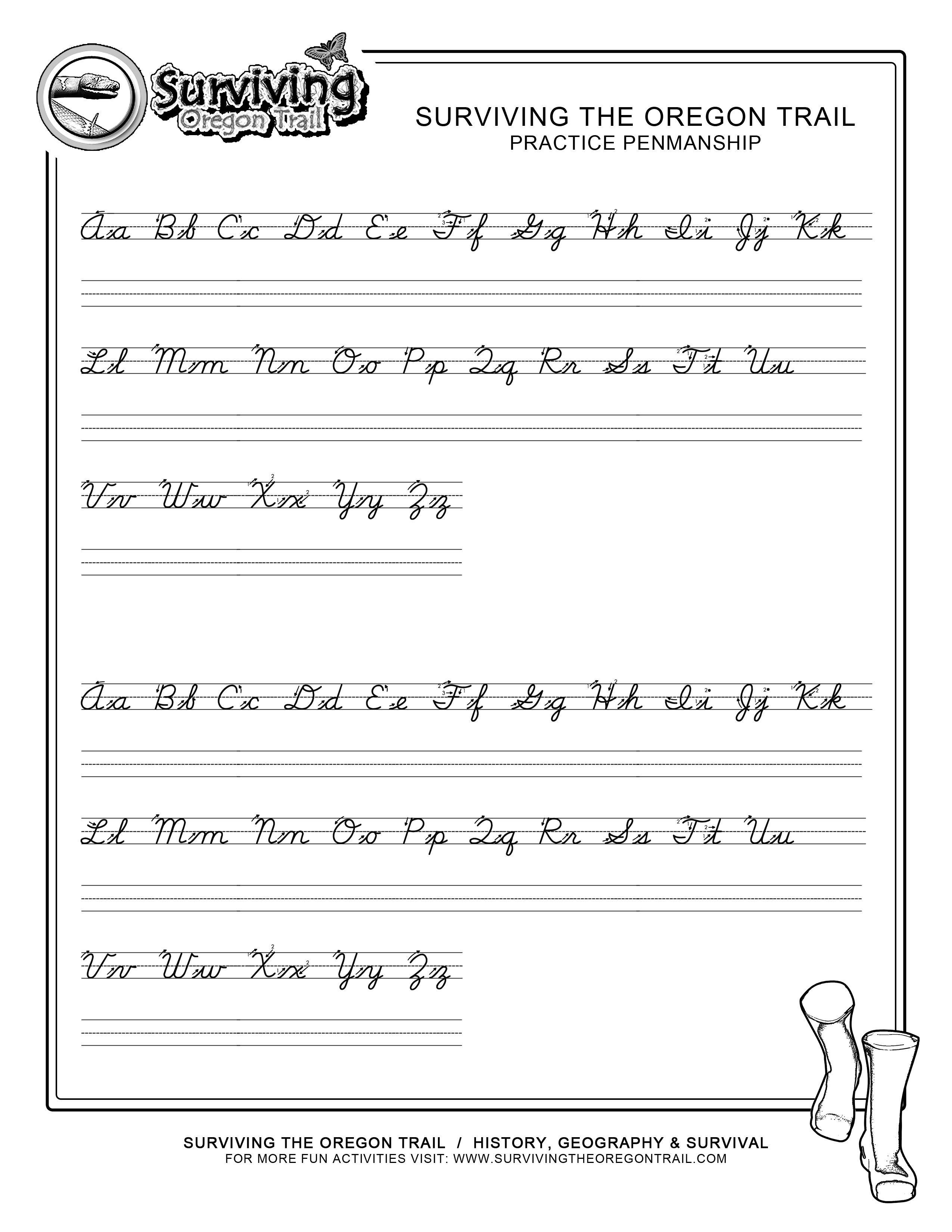 Practice Penmanship – Free Abc's Printable Cursive Writing Worksheet - Free Printable Worksheets Handwriting Practice