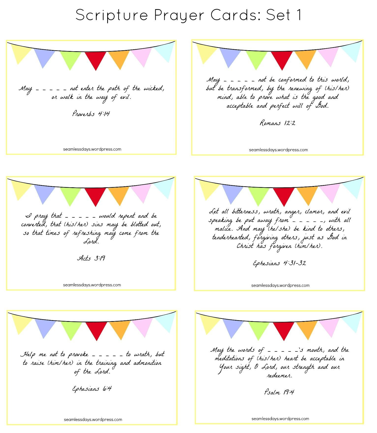 Praying For Your Children: A Free Printable | Prayer Ideas | Praying - Free Printable Prayer Cards