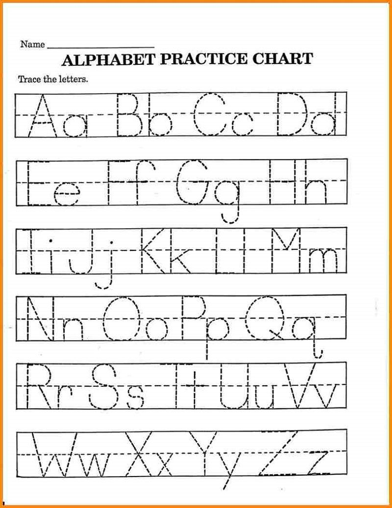 Pre K Math Worksheets Alphabet – Learning Printable | Preschool - Free Printable Abc Worksheets