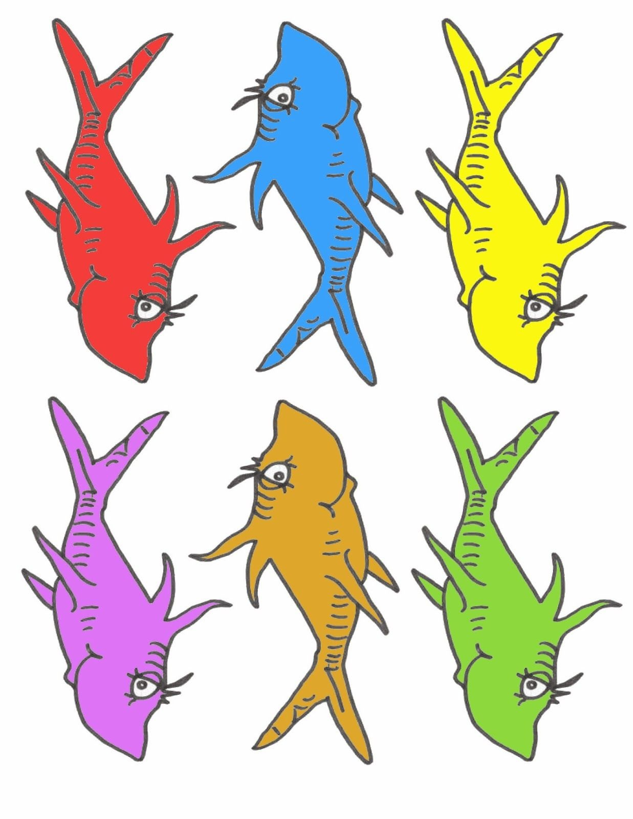 Pre-K Tweets: Free Printable Dr. Suess Fish! | Ymca Activities | Dr - Free Printable Dr Seuss Clip Art