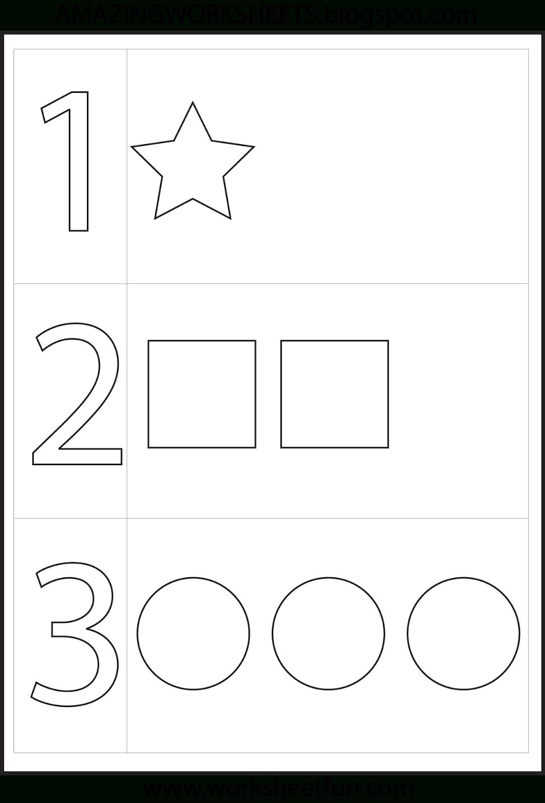 Preschool Number One Worksheet | Number 1 Preschool Worksheets - Free Printable Preschool Worksheets