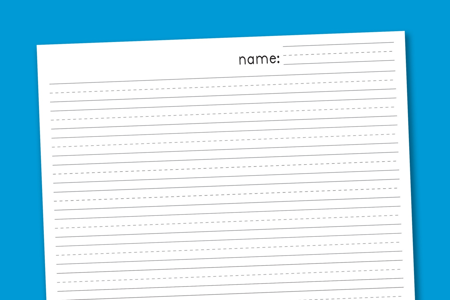 Primary Handwriting Paper - Paging Supermom - Free Printable Lined Handwriting Paper