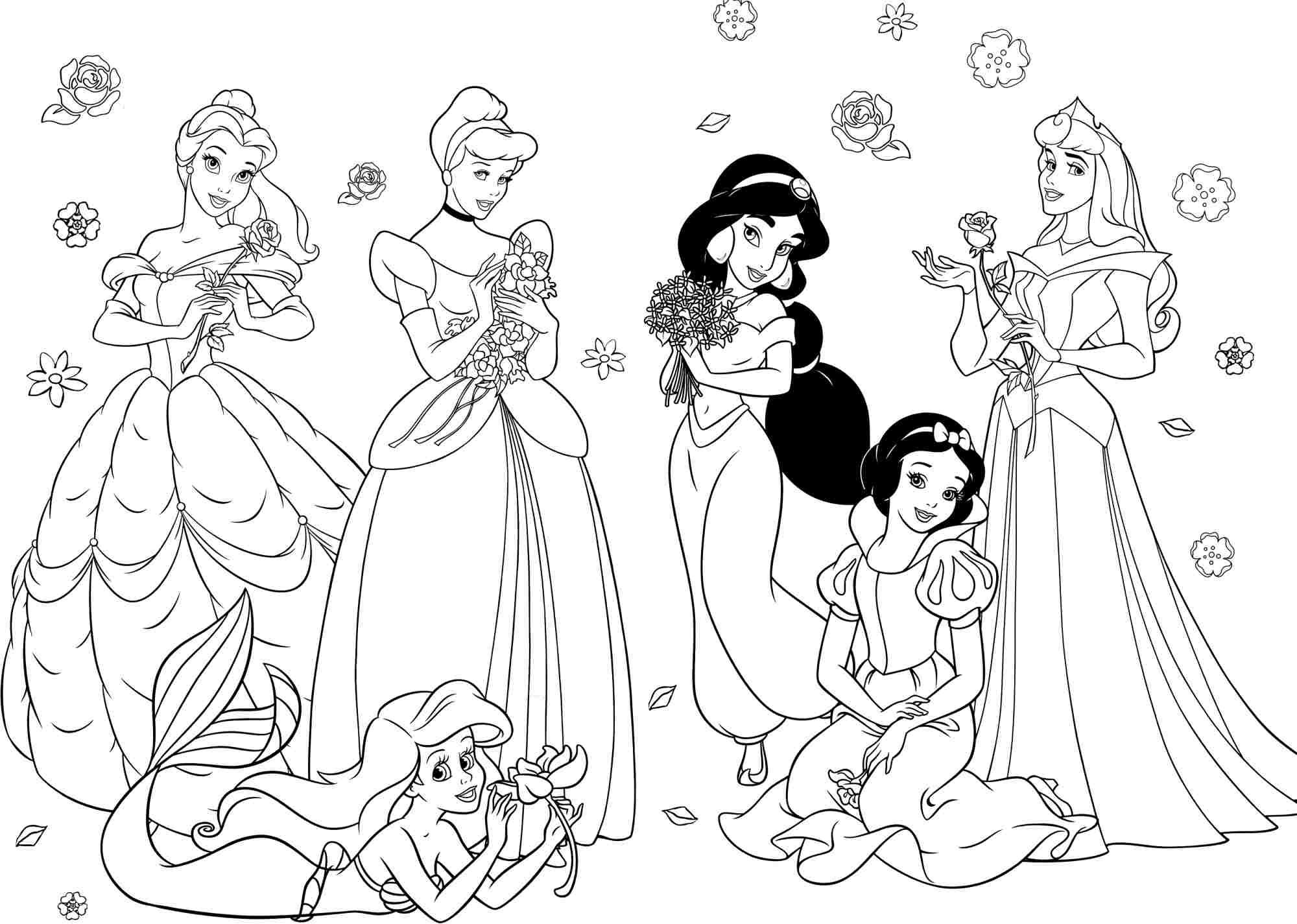 Princess Coloring Pages For Girls - Free Large Images | Crafting - Free Printable Princess Coloring Pages