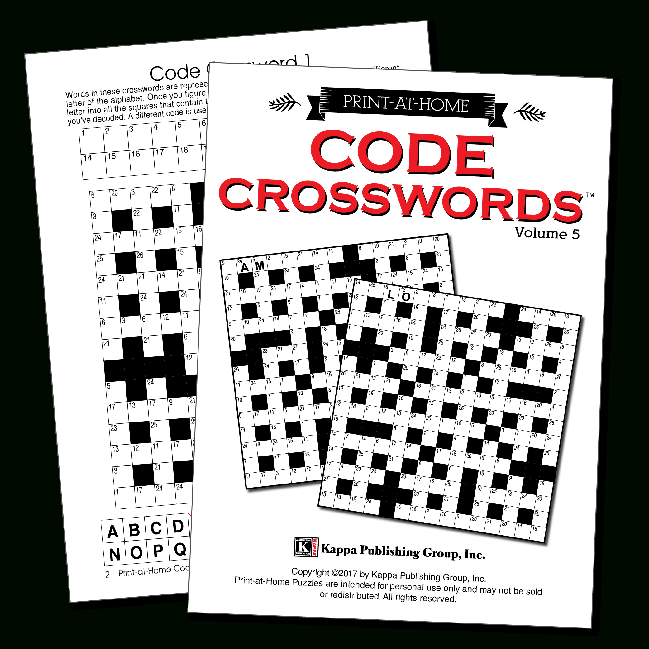 Print-At-Home Code Crosswords – Kappa Puzzles - Free Printable Variety Puzzles