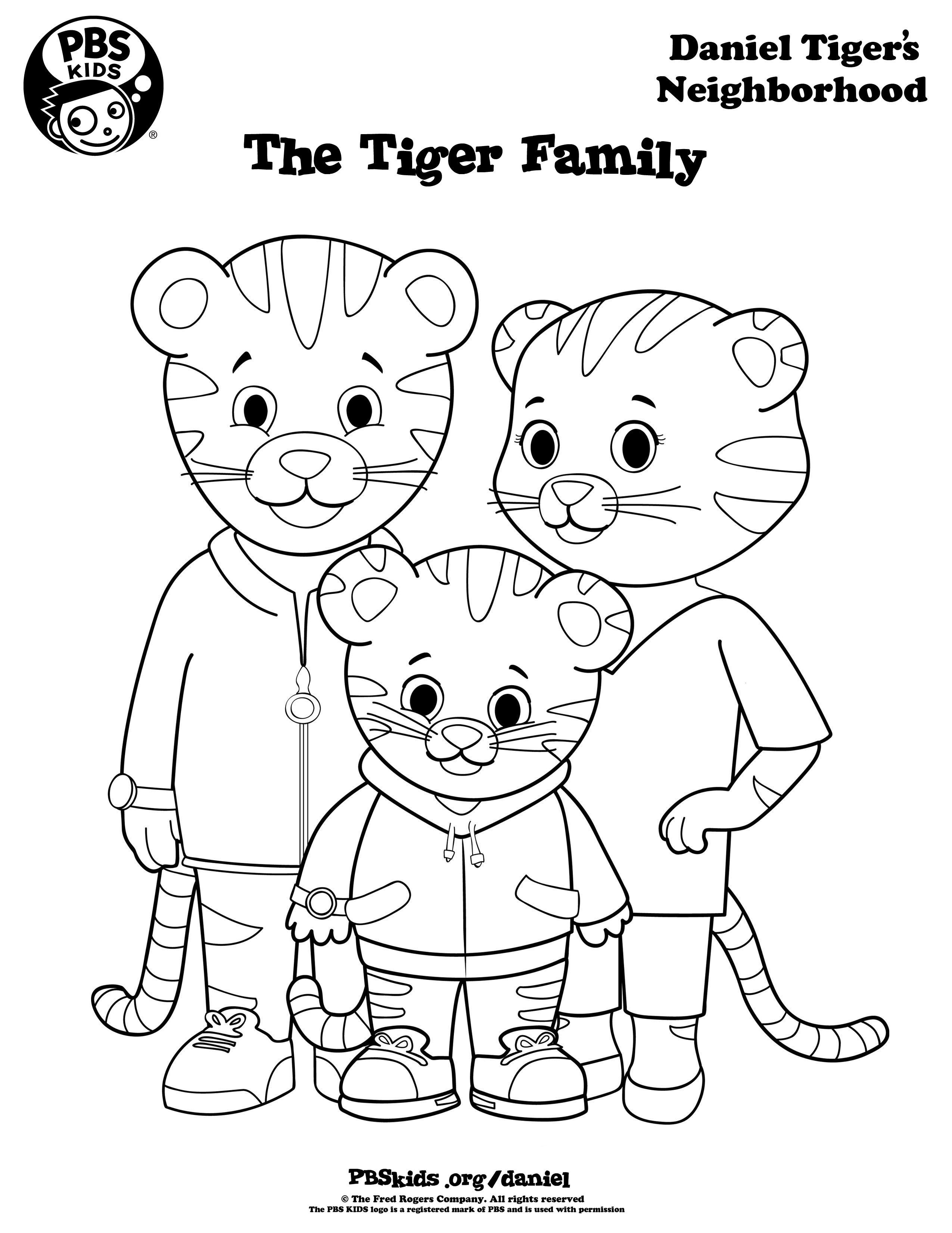 Print Out Grr-Rific Coloring Pages For Your Weekend Adventures - Free Printable Daniel Tiger Coloring Pages