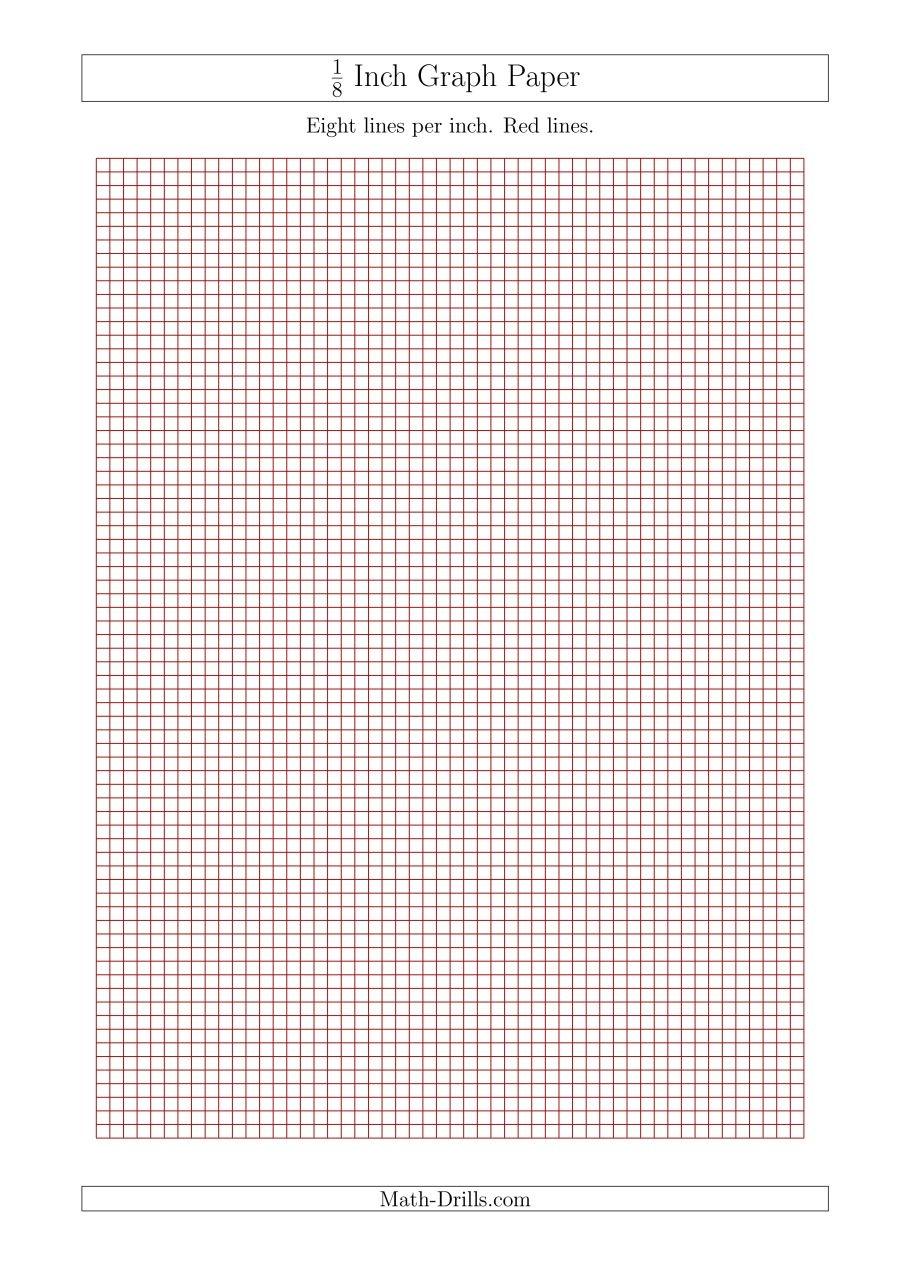 Printable 1 8 Inch Graph Paper - Tutlin.psstech.co - Free Printable Graph Paper 1 4 Inch