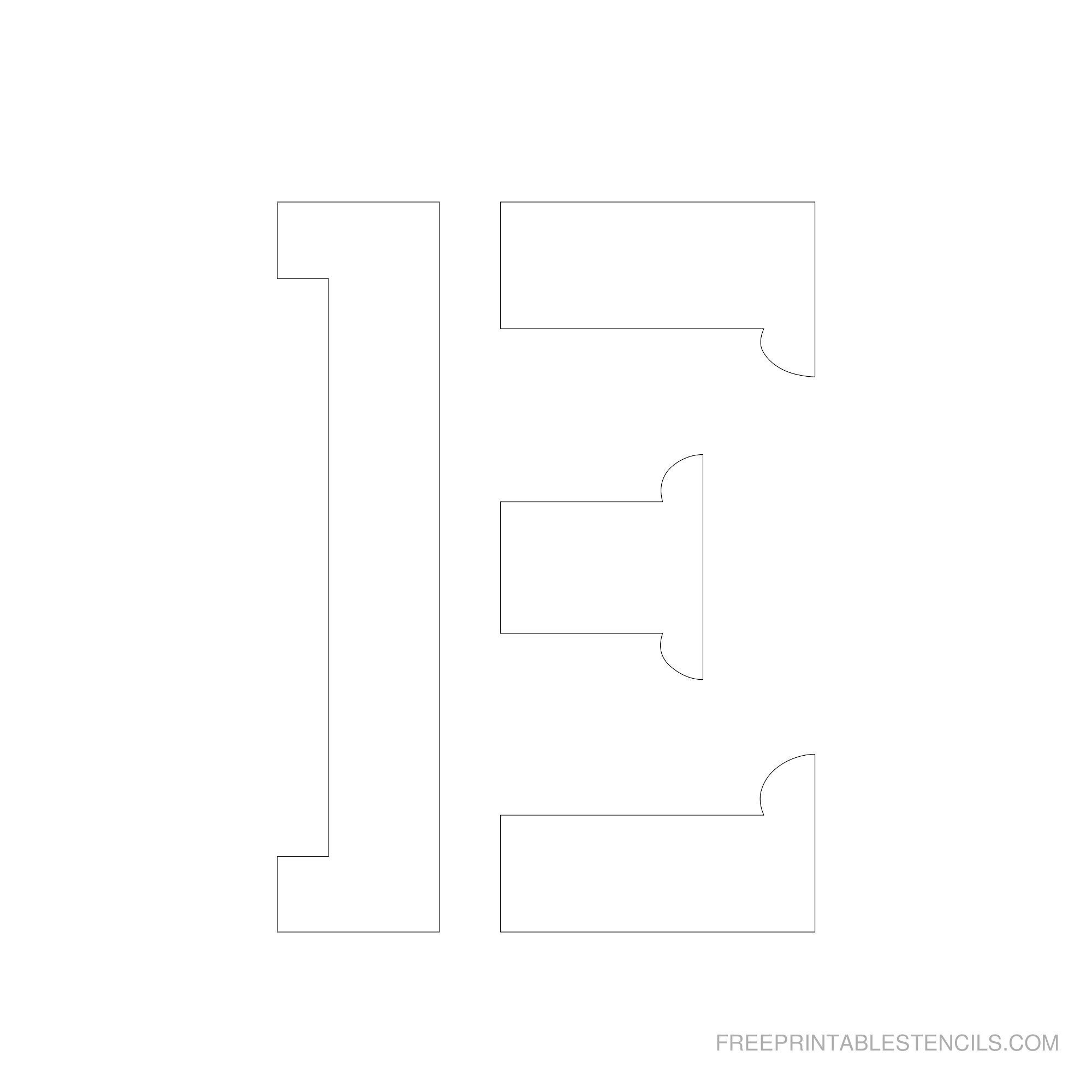 Printable 2 - 6 Inch Letter Stencils | Calligraphy Ideas | Letter - Free Printable 12 Inch Letter Stencils