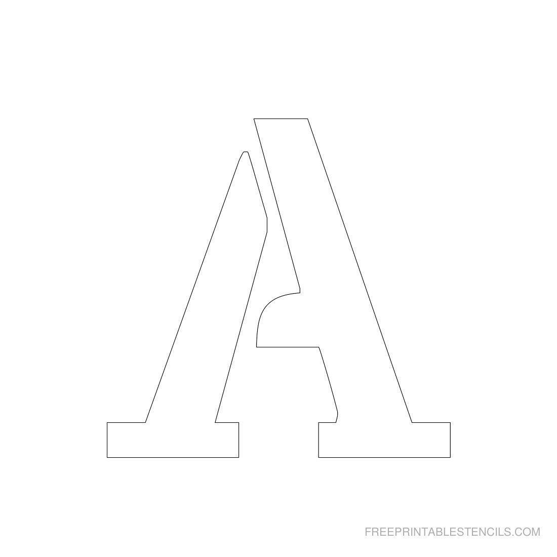 Printable 3 Inch Letter Stencil A--Has Full Alphabet | Typography - Free Printable 12 Inch Letter Stencils