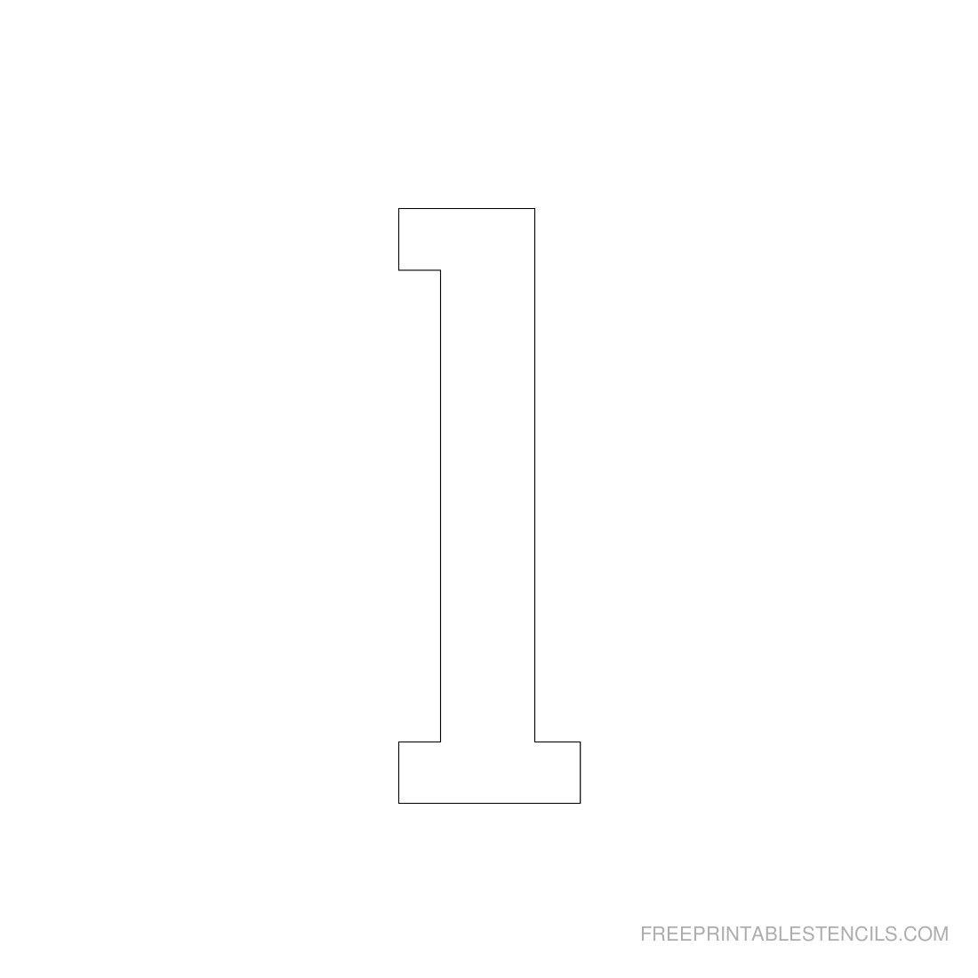 Printable 3 Inch Number Stencils 1-10   Free Printable Stencils - Free Printable 4 Inch Number Stencils