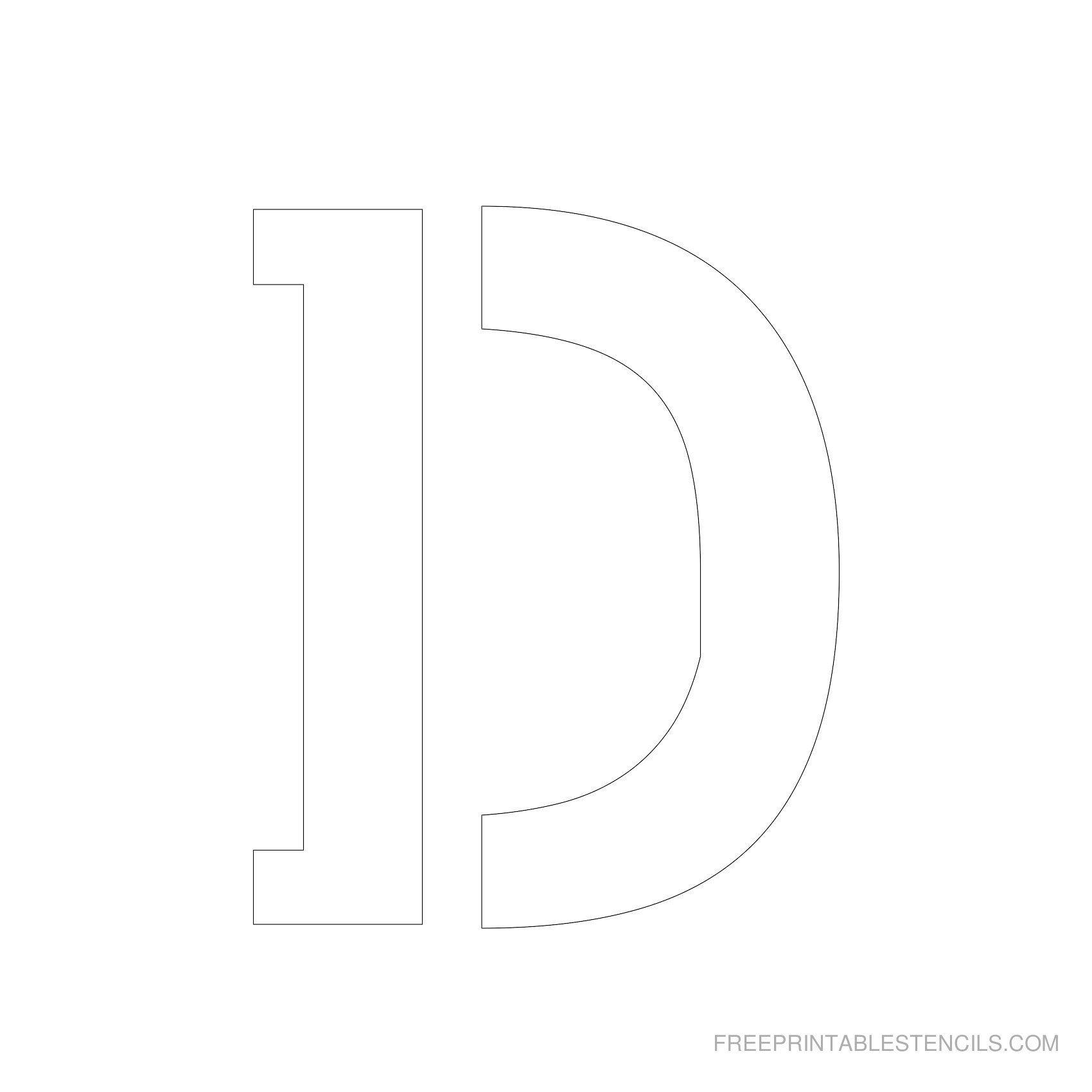 Printable 5 Inch Letter Stencils | Lettering | Letter Stencils To - Free Printable 5 Inch Number Stencils