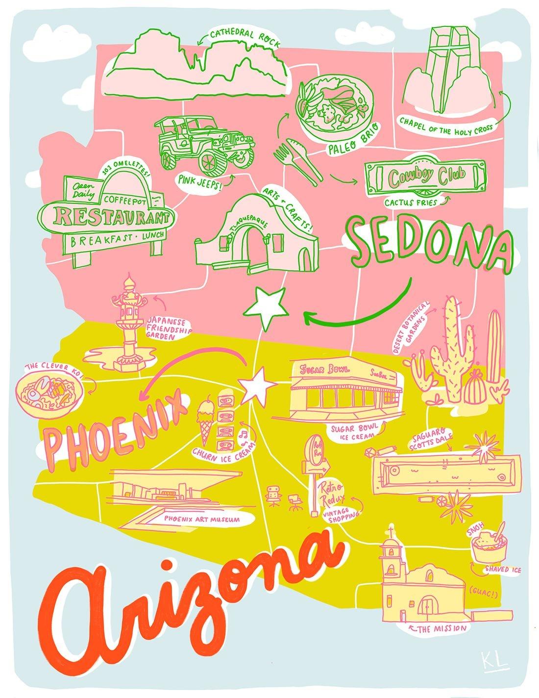 Printable Arizona Mapkristen Long X Aww Sam | Illustrations In - Free Printable Map Of Arizona