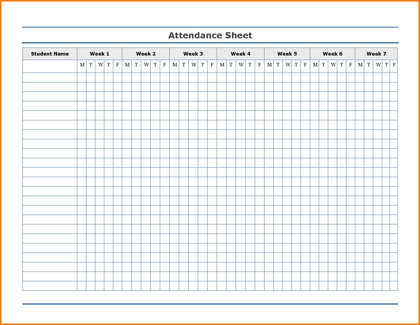 Printable Attendance Tracker | Swimming Organization | Attendance - Free Printable Attendance Forms For Teachers