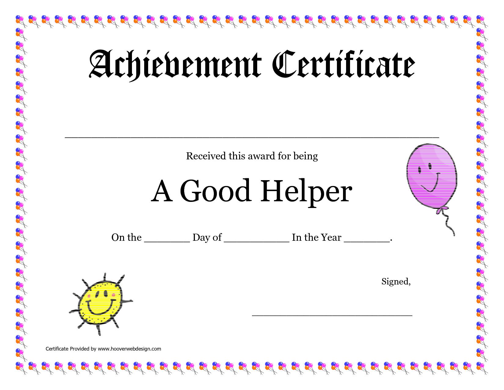 Printable Award Certificates For Teachers   Good Helper Printable - Free Printable Certificates For Teachers