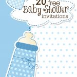 Printable Baby Shower Invitations   Free Printable Blank Baby Shower Invitations