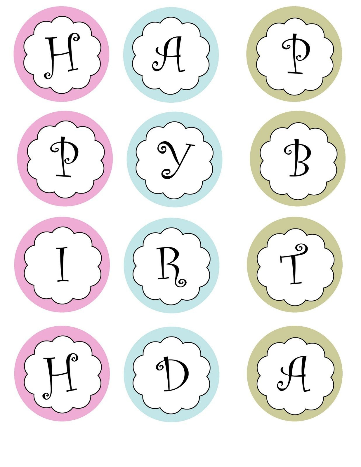 Printable Banners Templates Free | Print Your Own Birthday Banner - Free Printable Birthday Graph