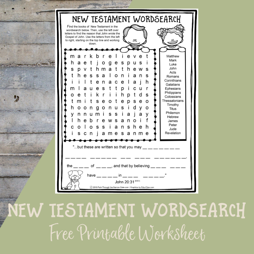 Printable Bible Crafts Archives - Path Through The Narrow Gate - Free Printable Bible Crafts