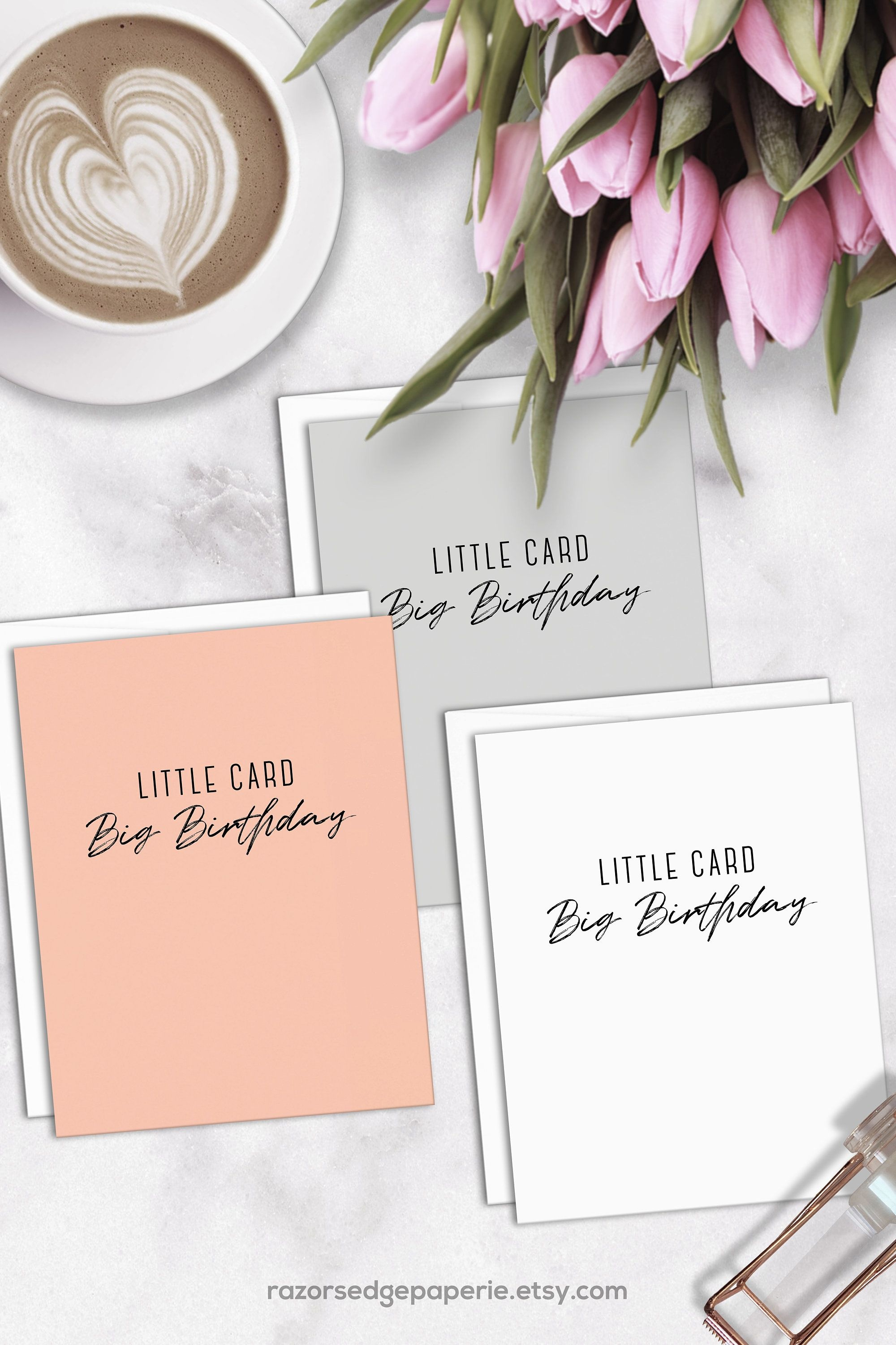 Printable Birthday Card Instant Download Digital Mini Greeting Card - Free Printable Birthday Cards For Her