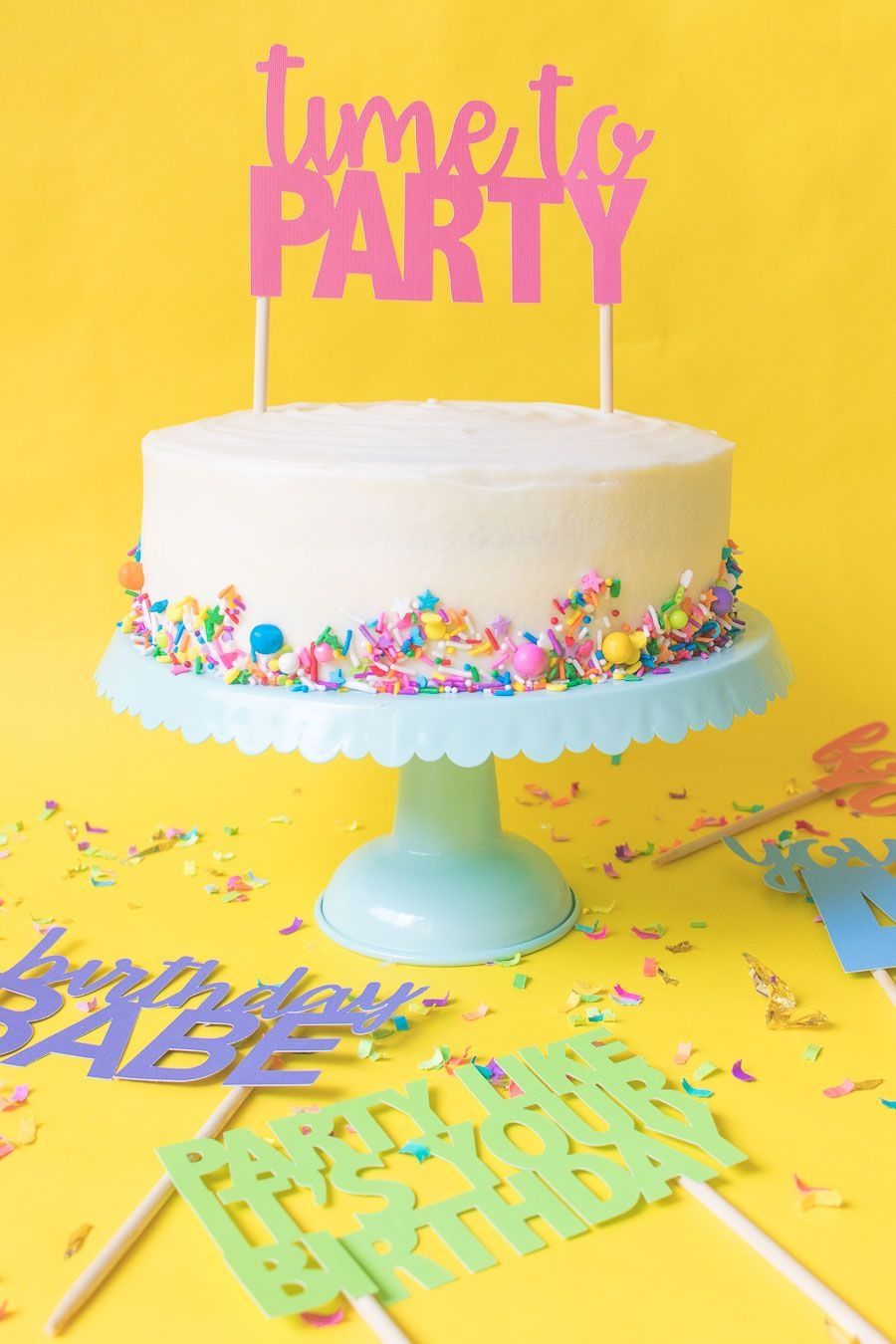 Printable Cake Toppers For Birthdays (+ Free Svg Templates - Free Printable Happy Birthday Cake Topper