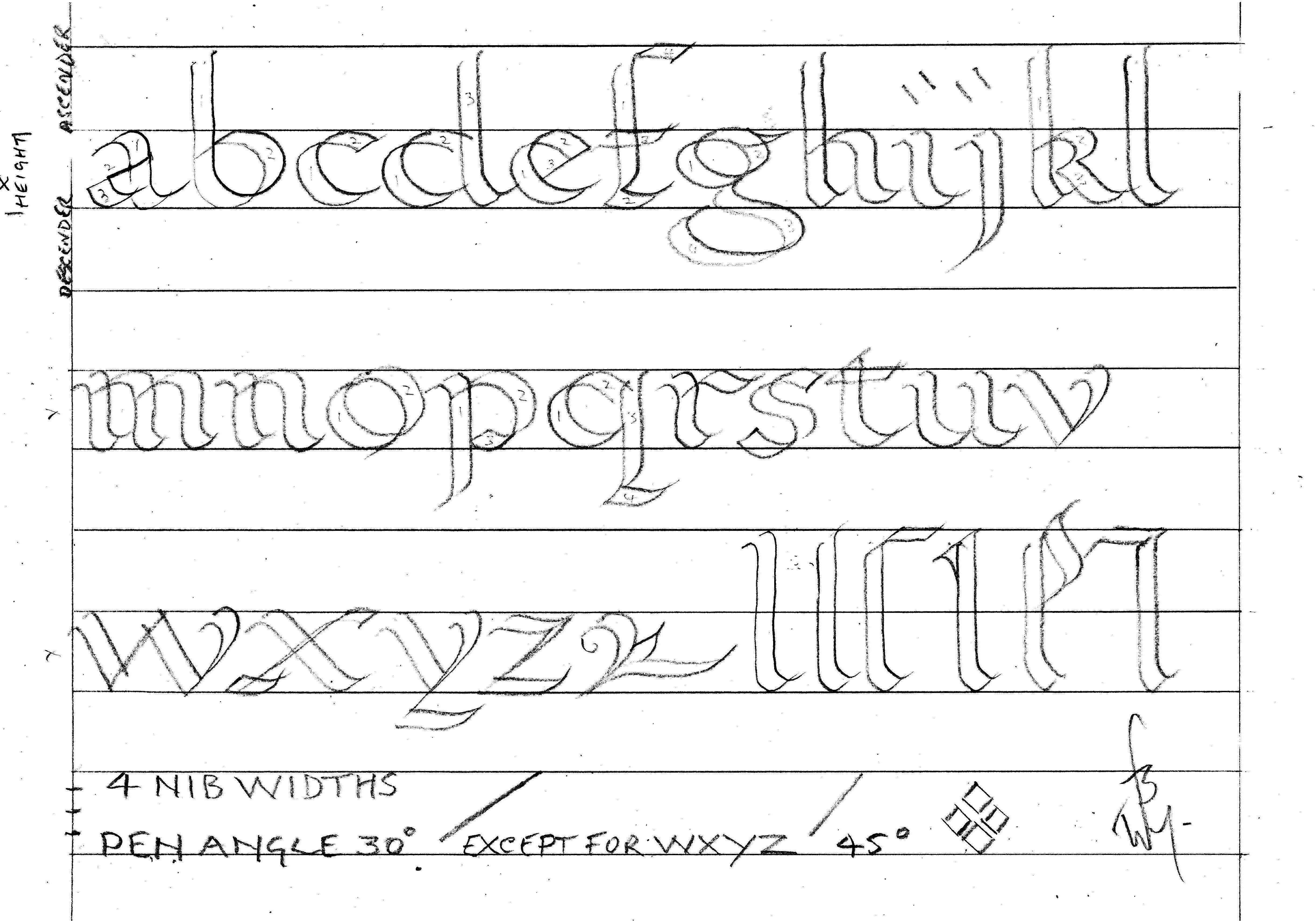 Printable Calligraphy Practice Worksheets | Bill's Space - Free Printable Calligraphy Worksheets