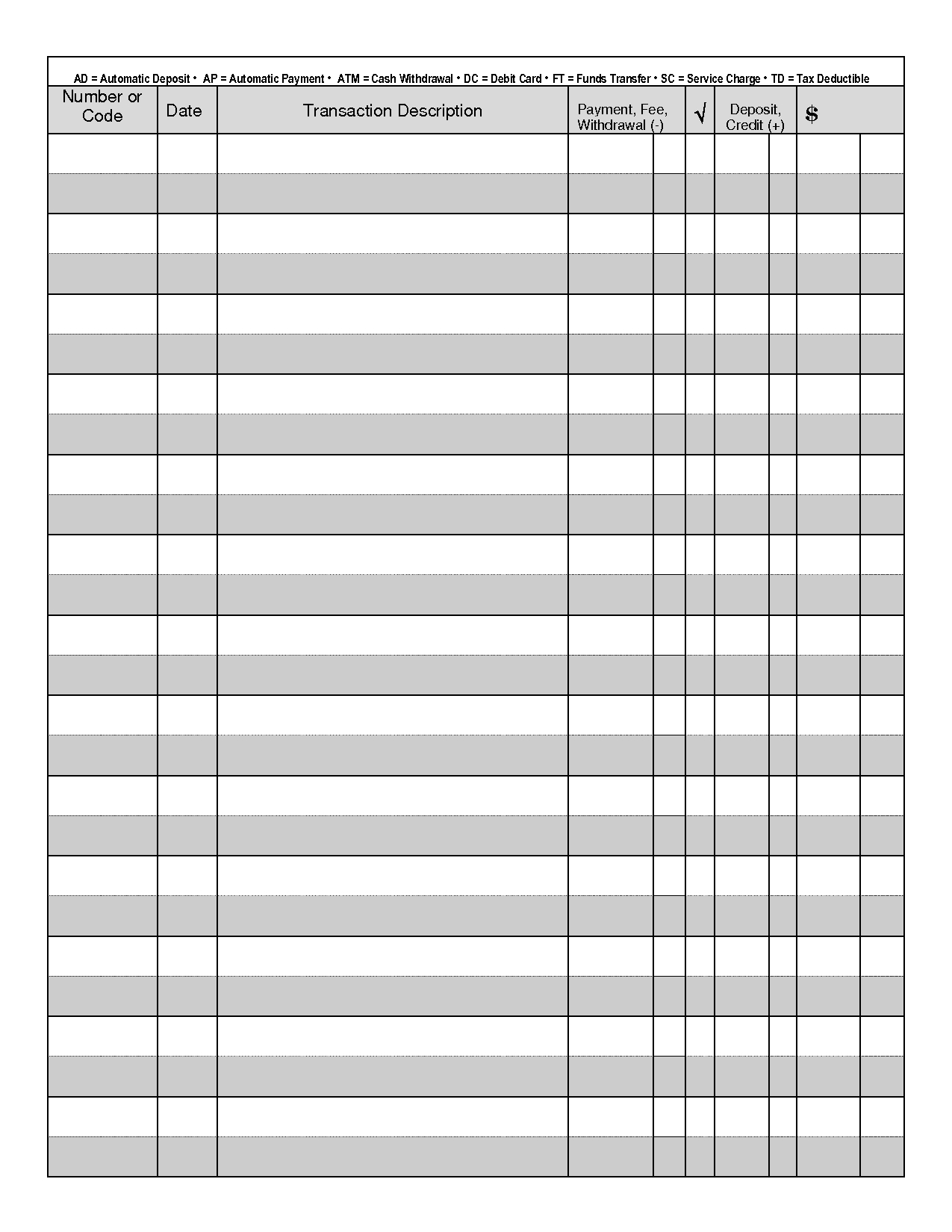Printable Check Register - When You Are Searching For Coupons They - Free Printable Check Register