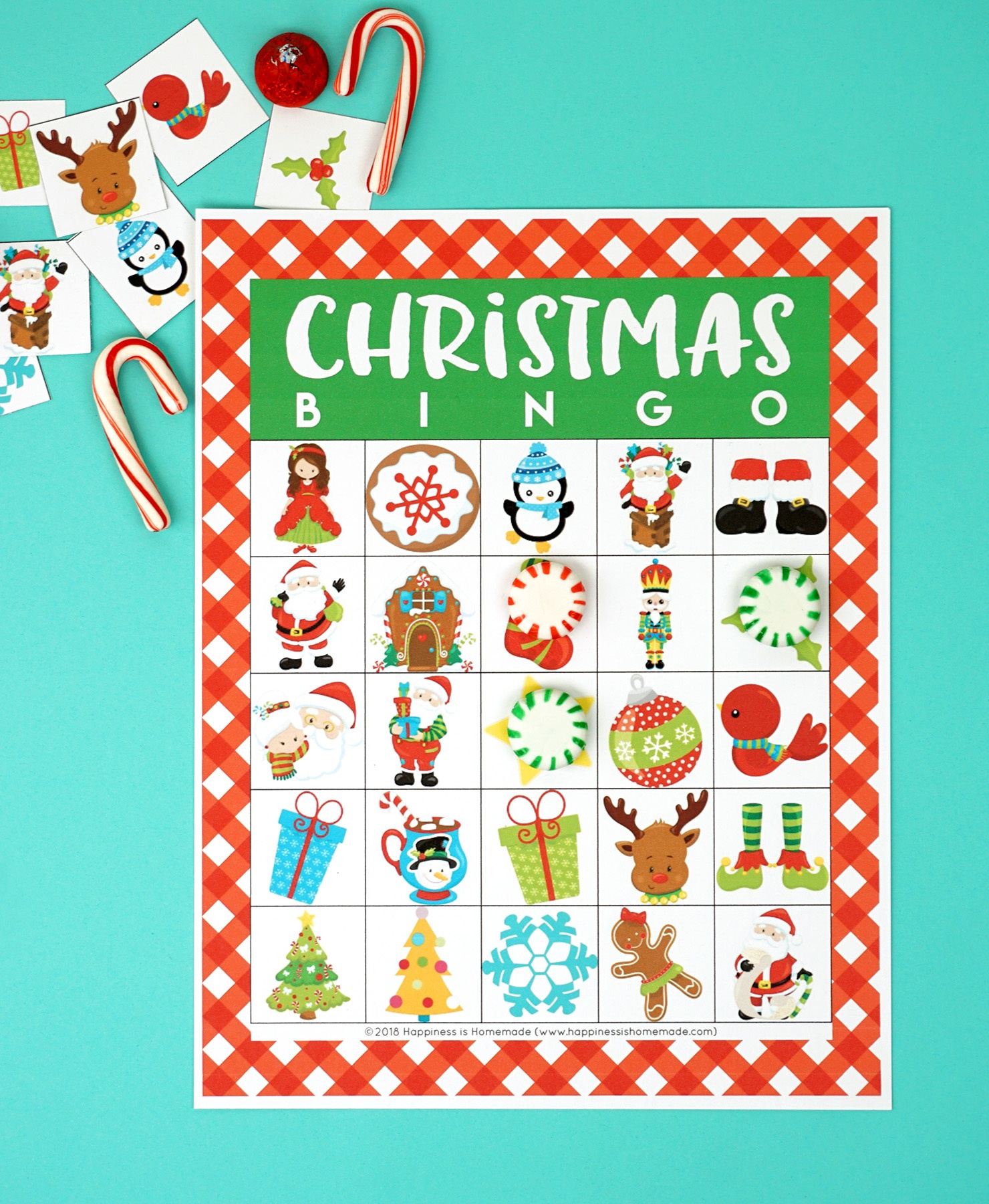 Printable Christmas Bingo Game - Happiness Is Homemade - Free Christmas Bingo Game Printable