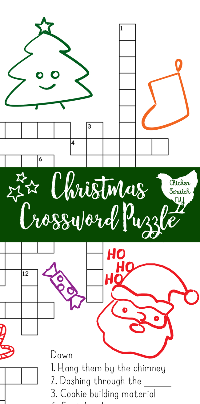 Printable Christmas Crossword Puzzle With Key - Free Printable Christmas Puzzle Games