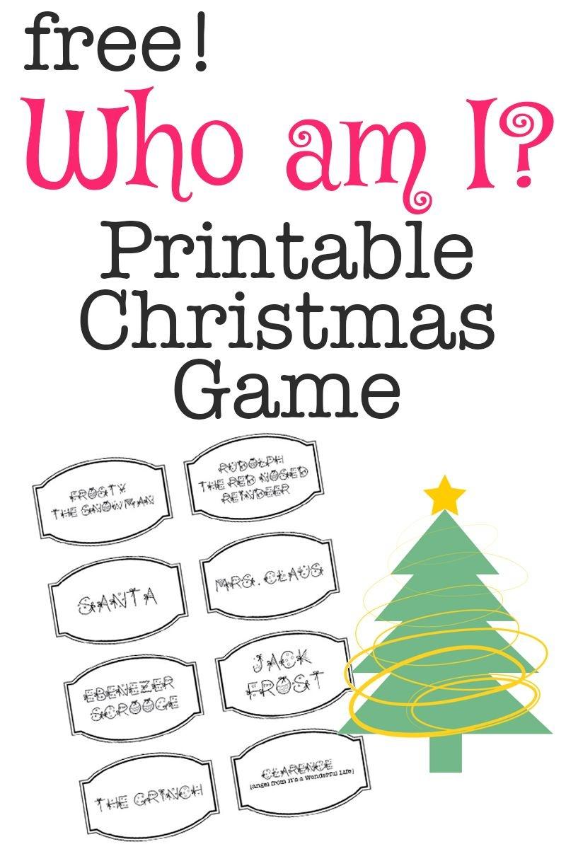 Printable Christmas Game: Who Am I?   Christmas Activities 2 - Free Printable Christmas Games For Family Gatherings