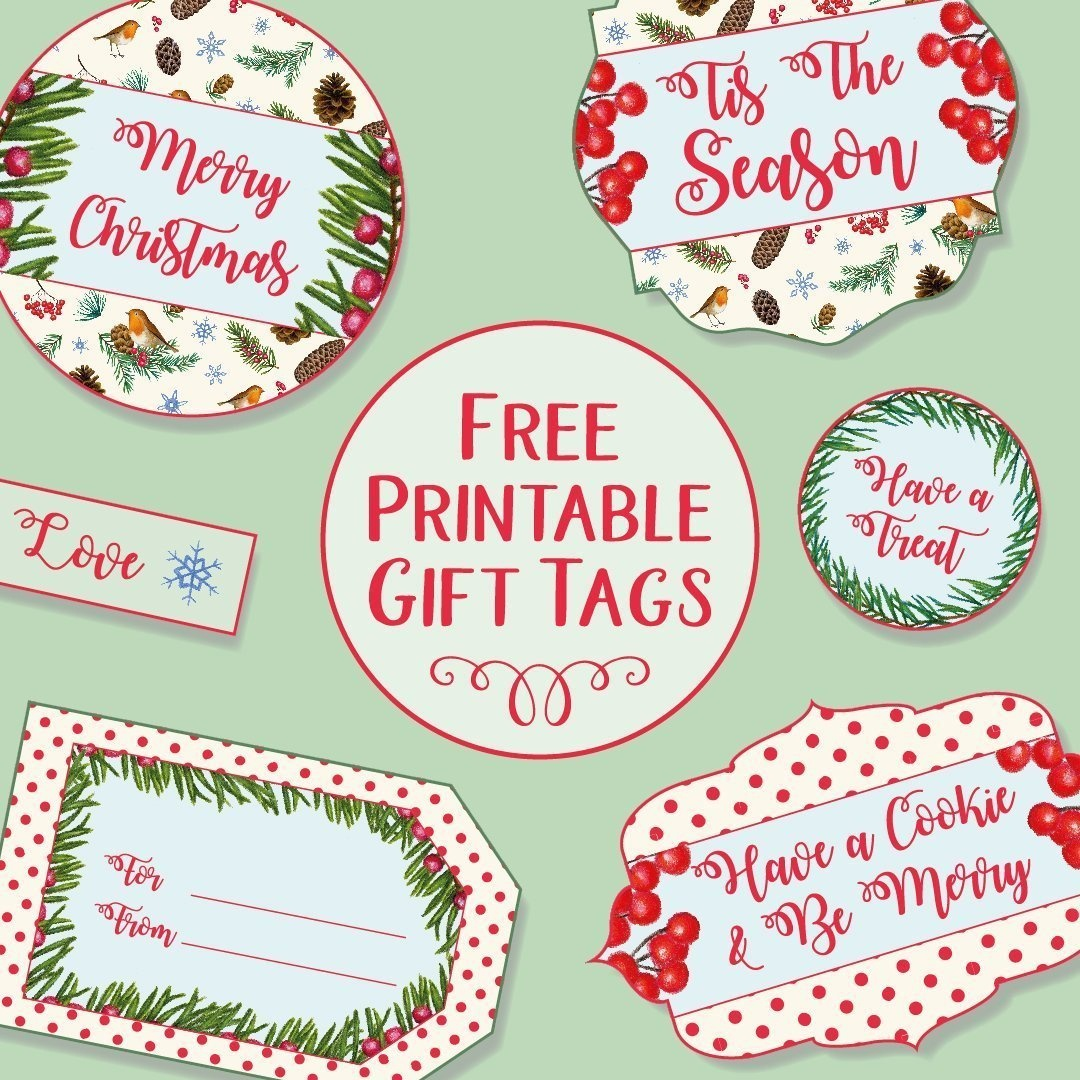 Printable Christmas Gift Tags - Free Printable Christmas Food Labels
